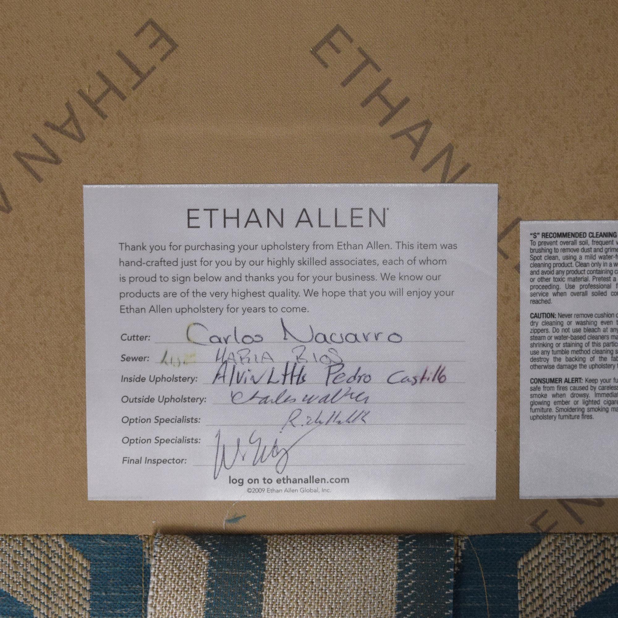 shop Ethan Allen Emerson Chair and Ottoman Ethan Allen Chairs