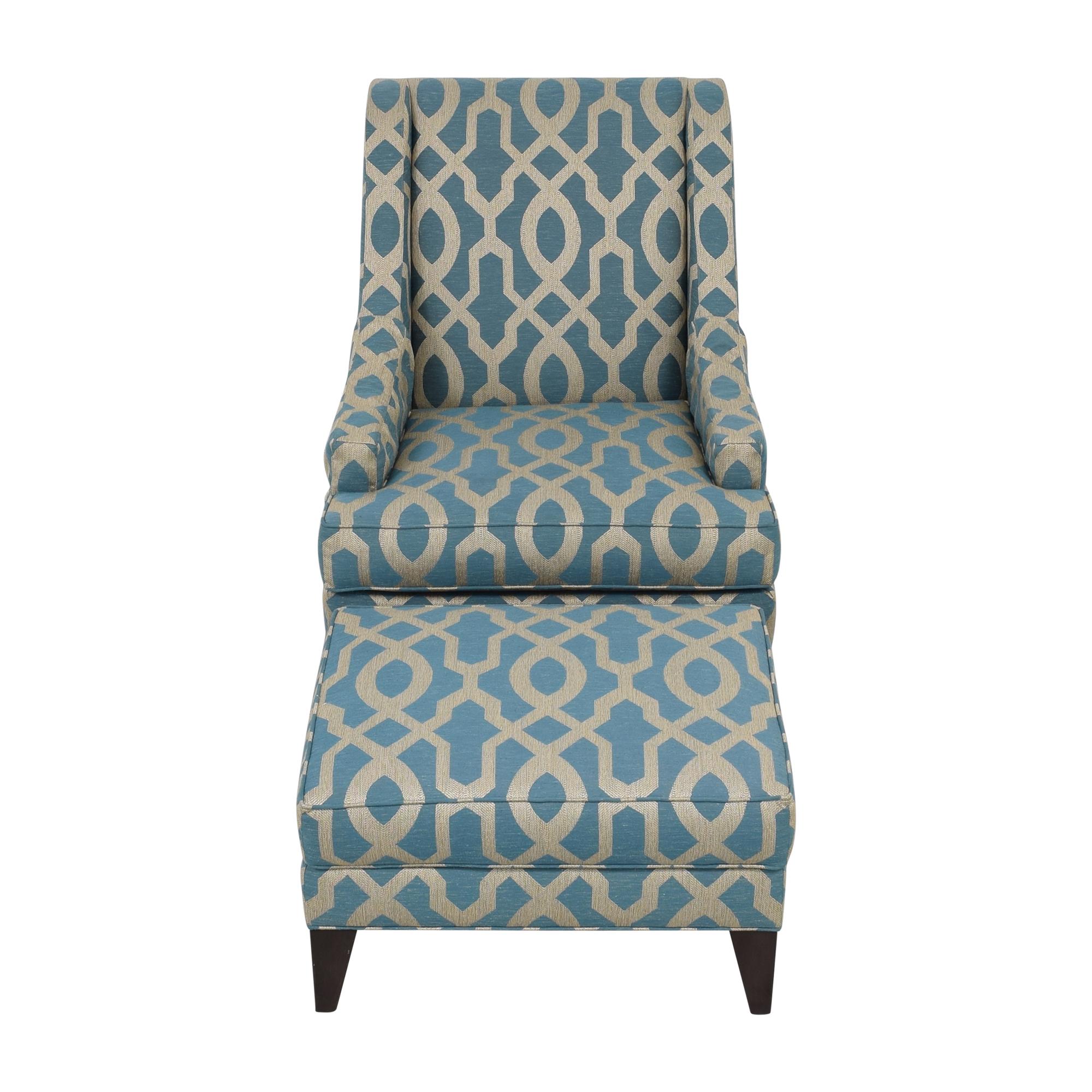 Ethan Allen Ethan Allen Emerson Chair and Ottoman ct