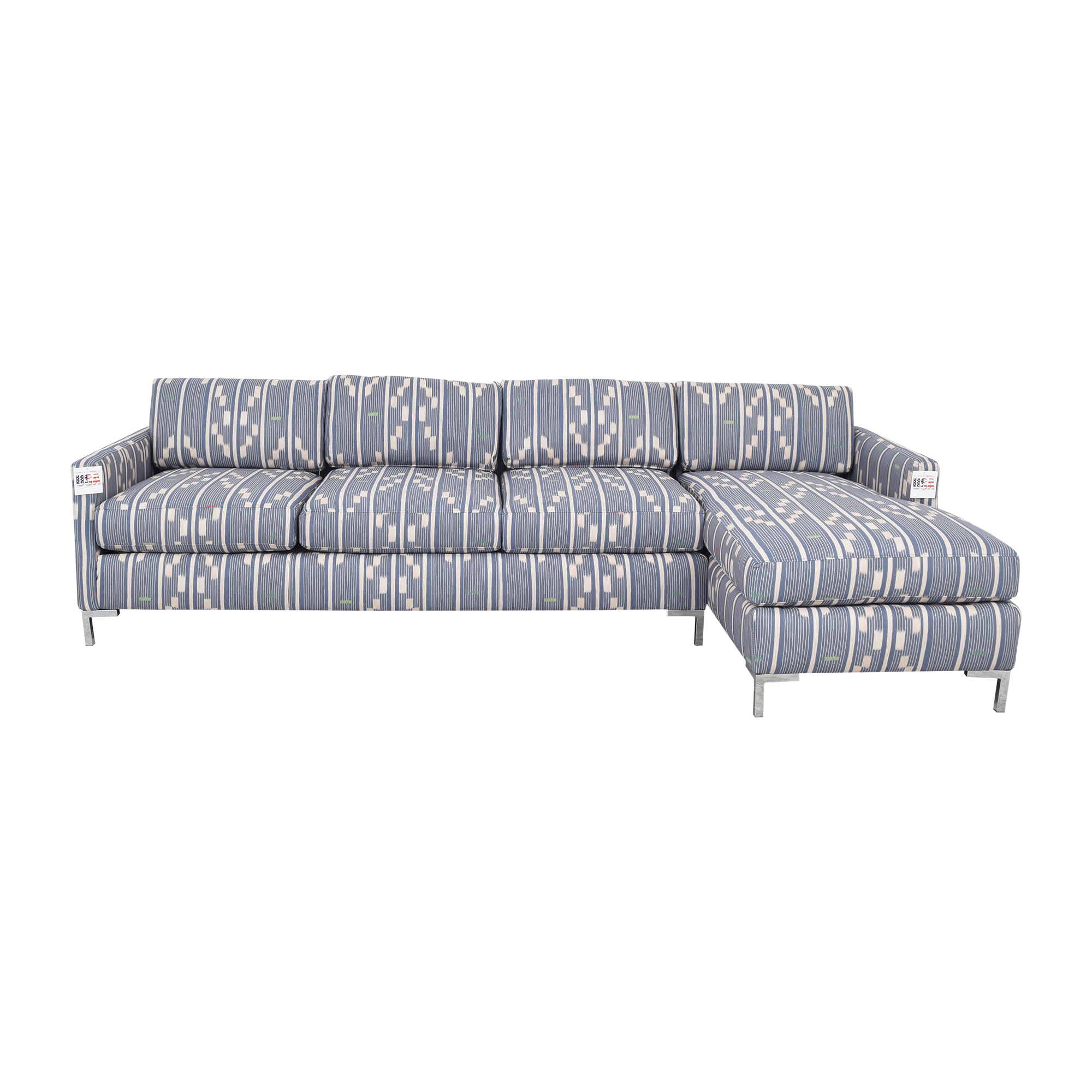 The Inside The Inside Right Facing Modern Sectional in Linea Ikat pa