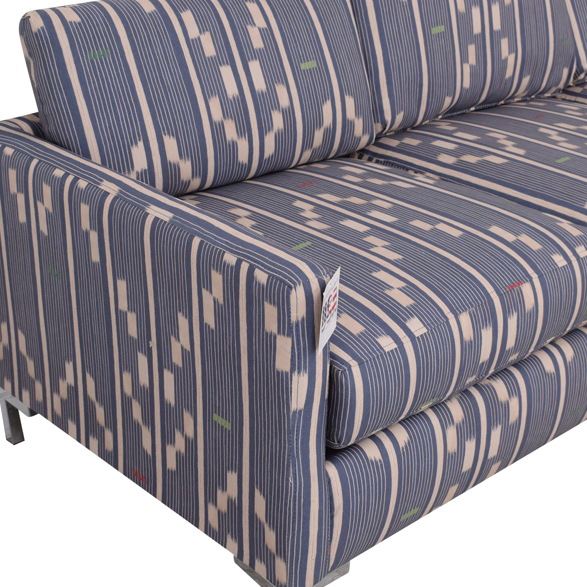 The Inside The Inside Right Facing Modern Sectional in Linea Ikat used