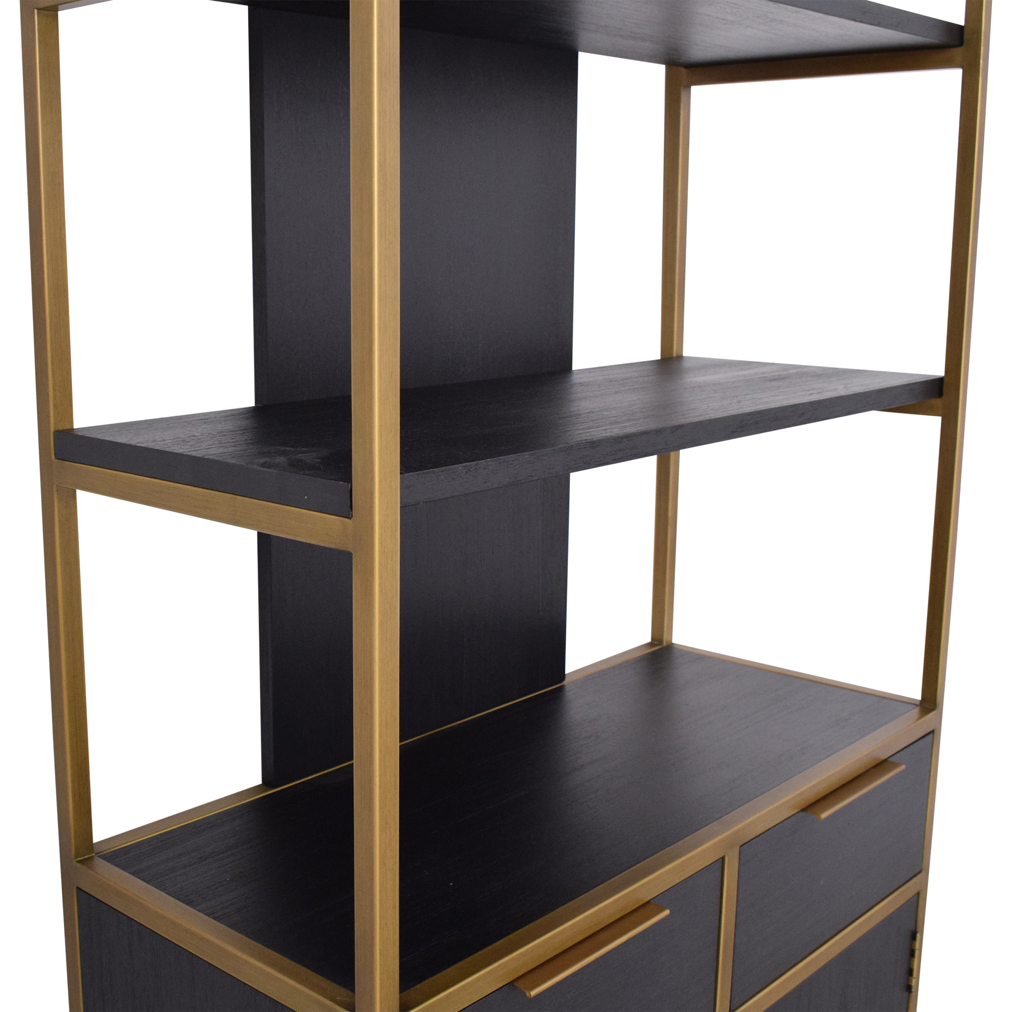 Crate & Barrel Oxford Wide Storage Bookcase sale