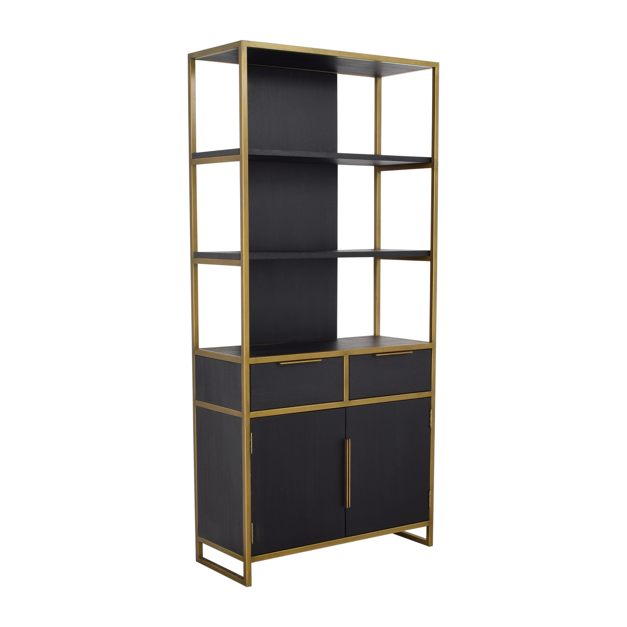 buy Crate & Barrel Oxford Wide Storage Bookcase Crate & Barrel Bookcases & Shelving