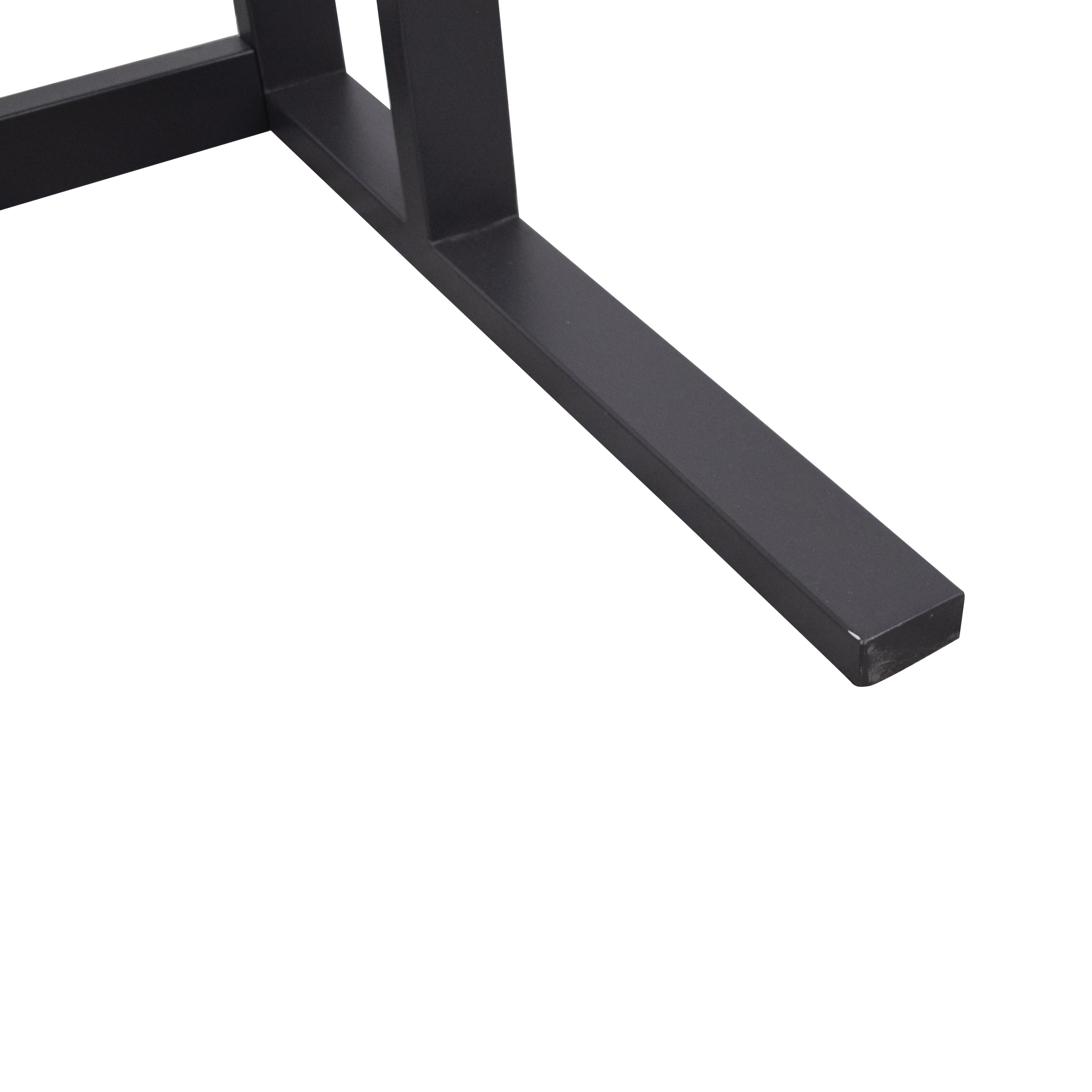 Crate & Barrel Crate & Barrel Glass Top Desk discount