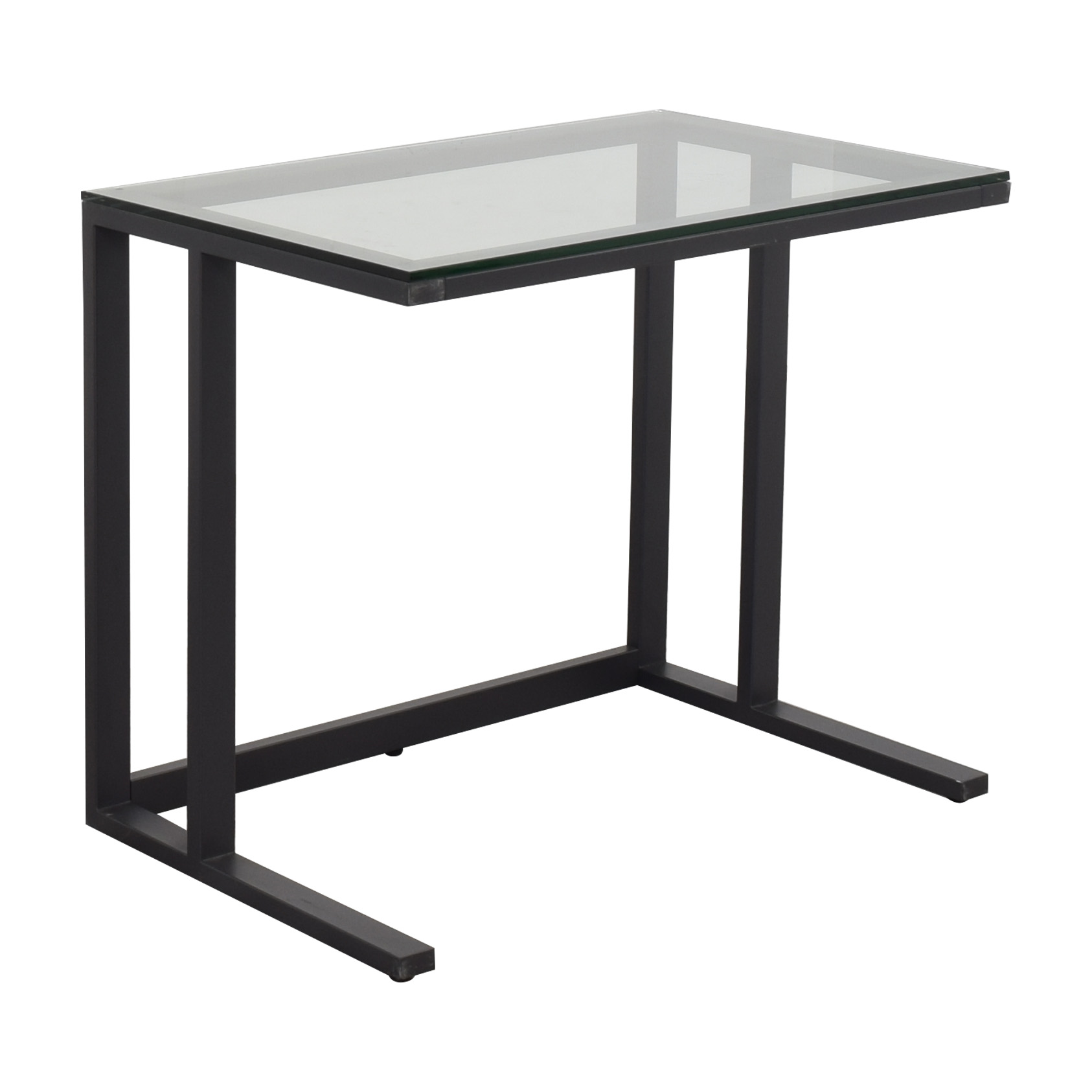 Crate & Barrel Crate & Barrel Glass Top Desk on sale