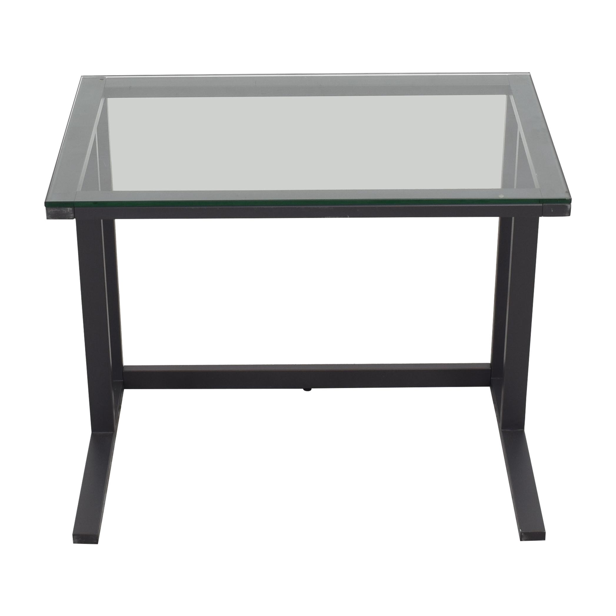 Crate & Barrel Crate & Barrel Glass Top Desk pa
