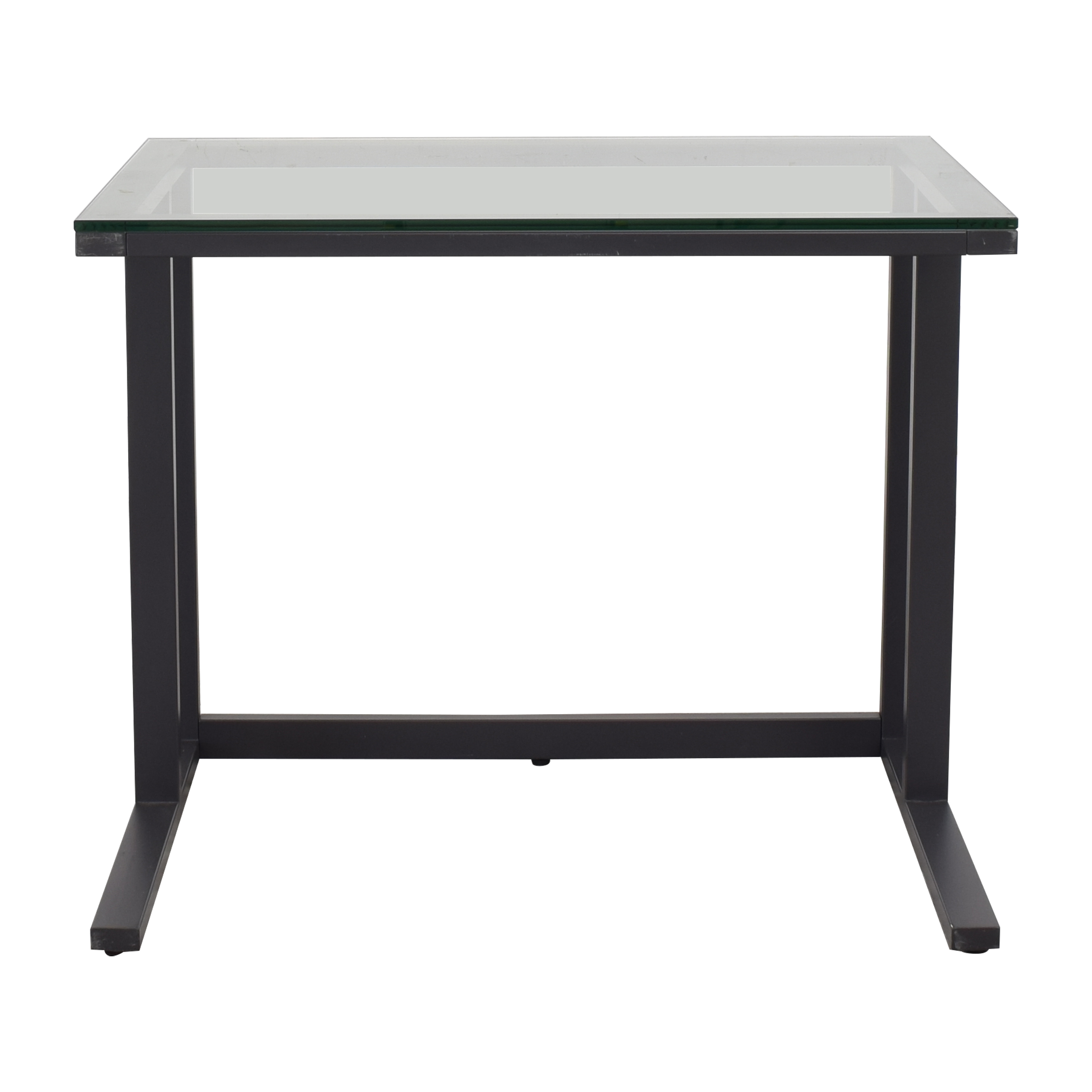 Crate & Barrel Crate & Barrel Glass Top Desk price