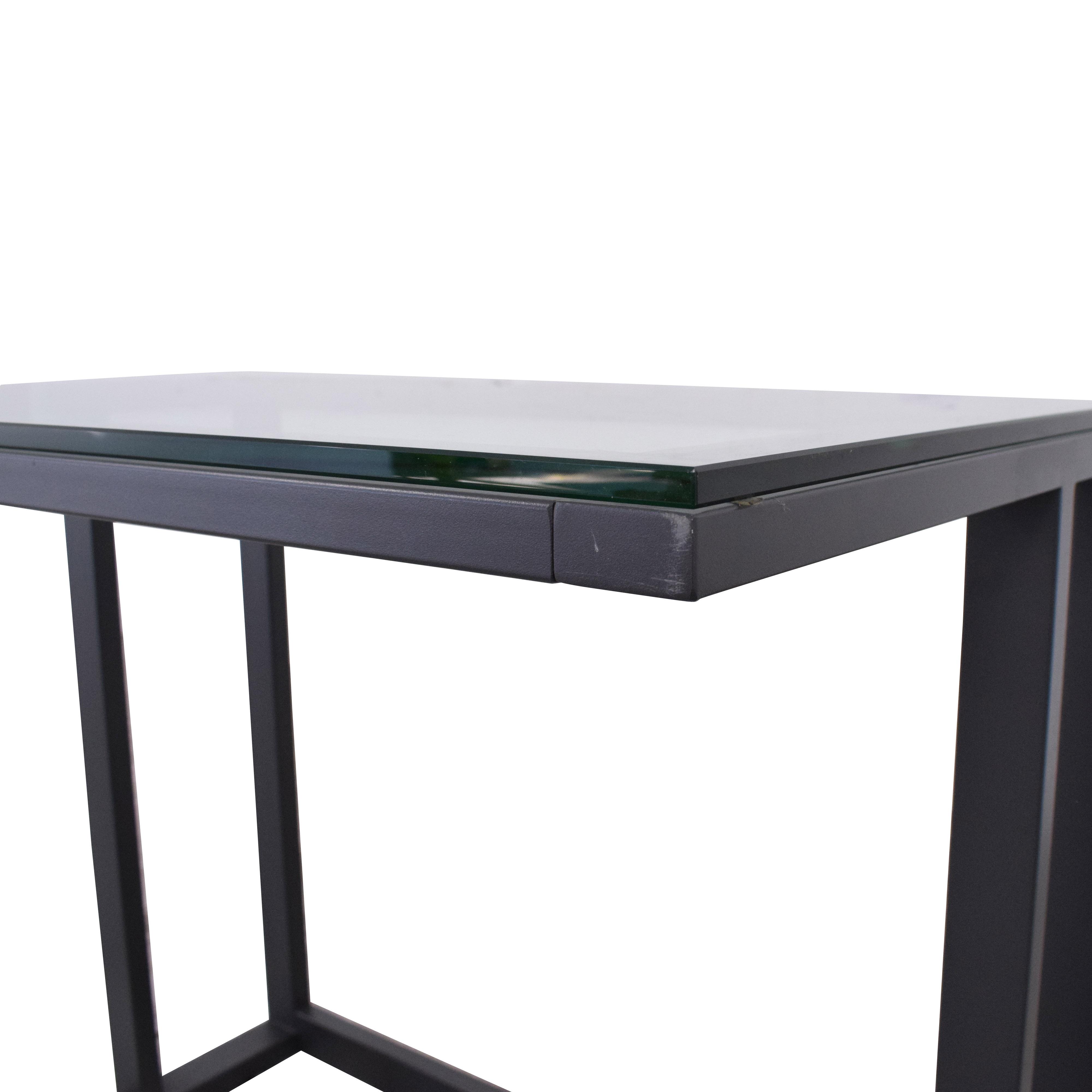 Crate & Barrel Crate & Barrel Glass Top Desk ct