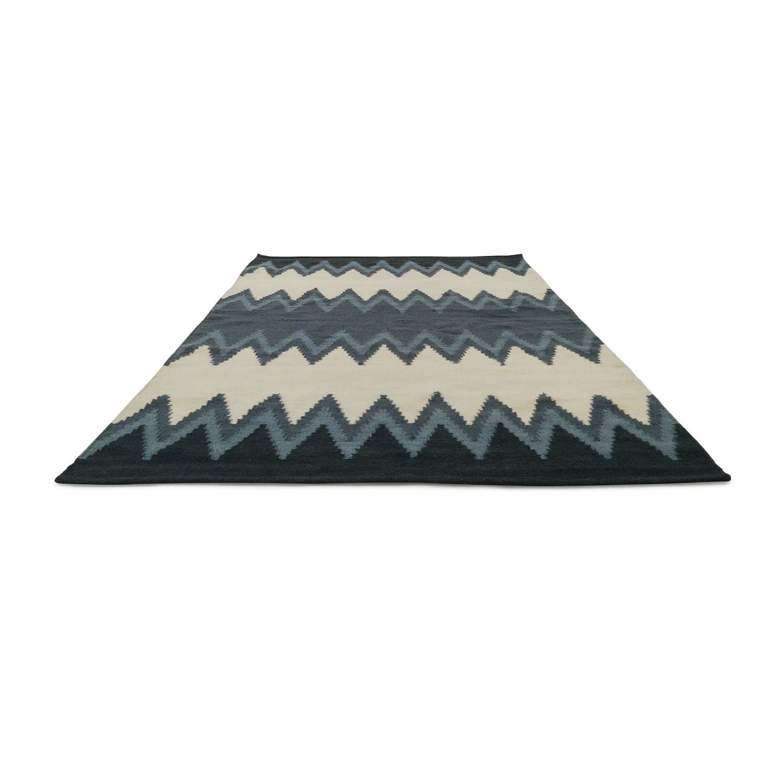 West Elm Wool Kilim Rug / Decor