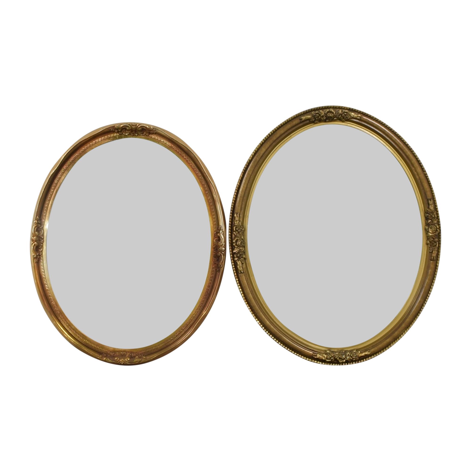 buy Carolina Mirror Company Vintage Oval Mirrors Carolina Mirror