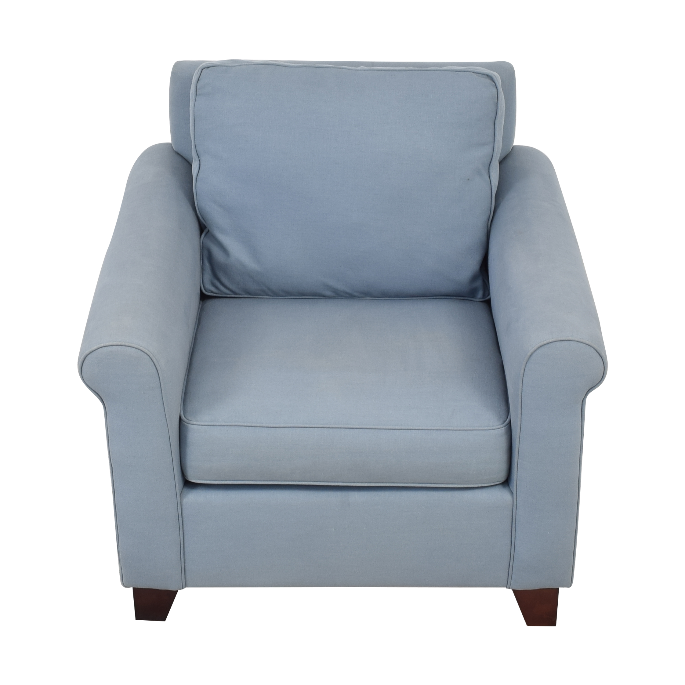 buy Pottery Barn Cameron Upholstered Roll Arm Chair Pottery Barn Chairs