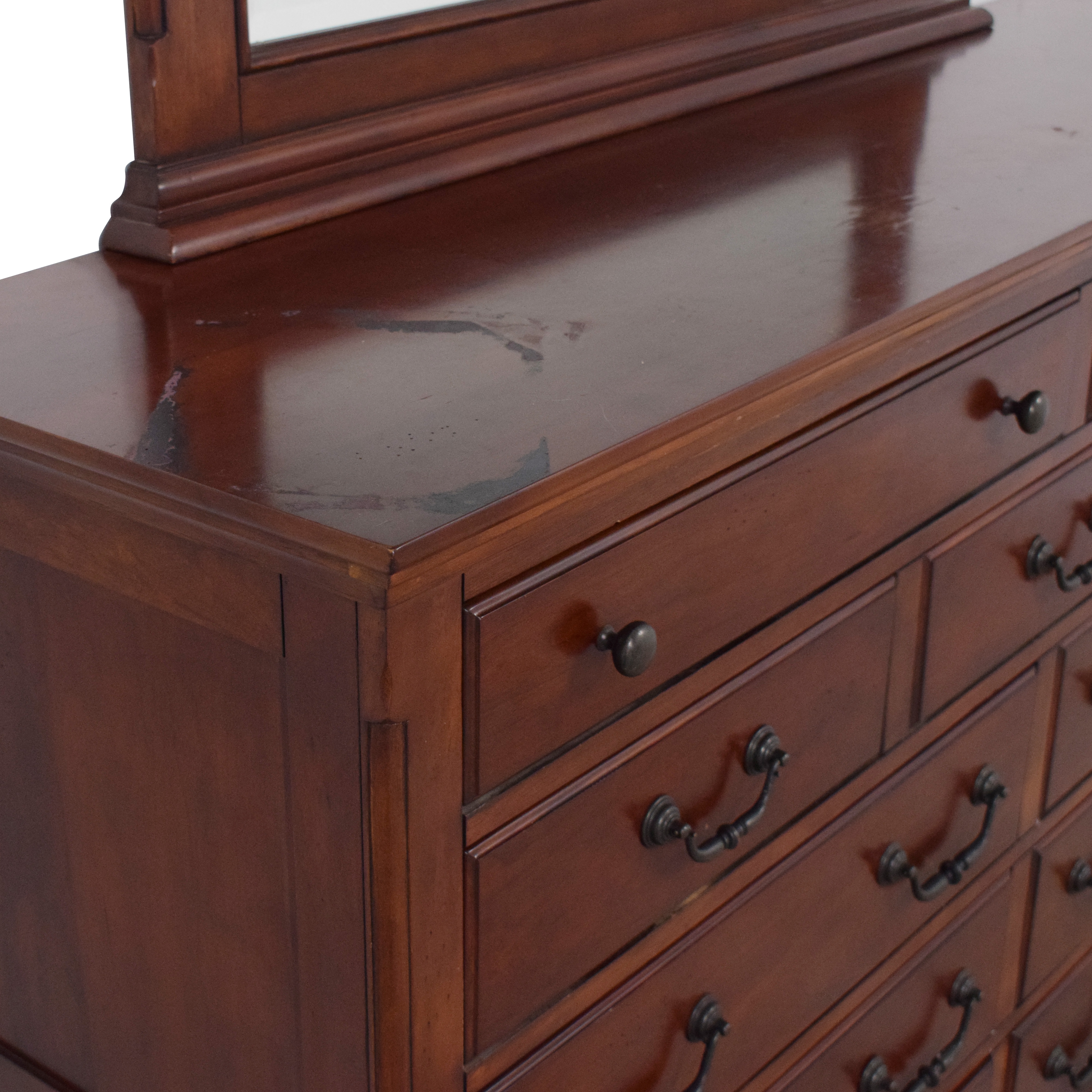 shop Dresser with Mirror  Storage