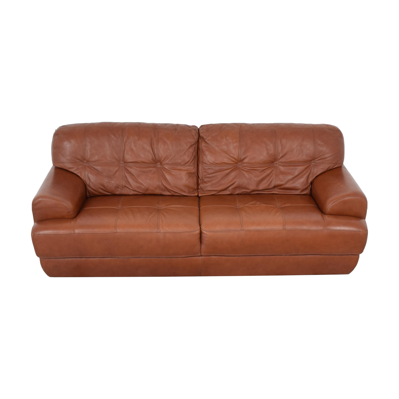 Macy's Macy's Tufted Sofa light brown