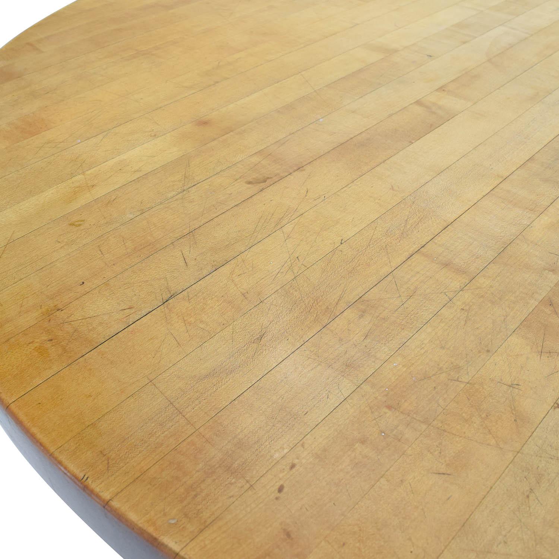 70 off butcher block round table tables. Black Bedroom Furniture Sets. Home Design Ideas