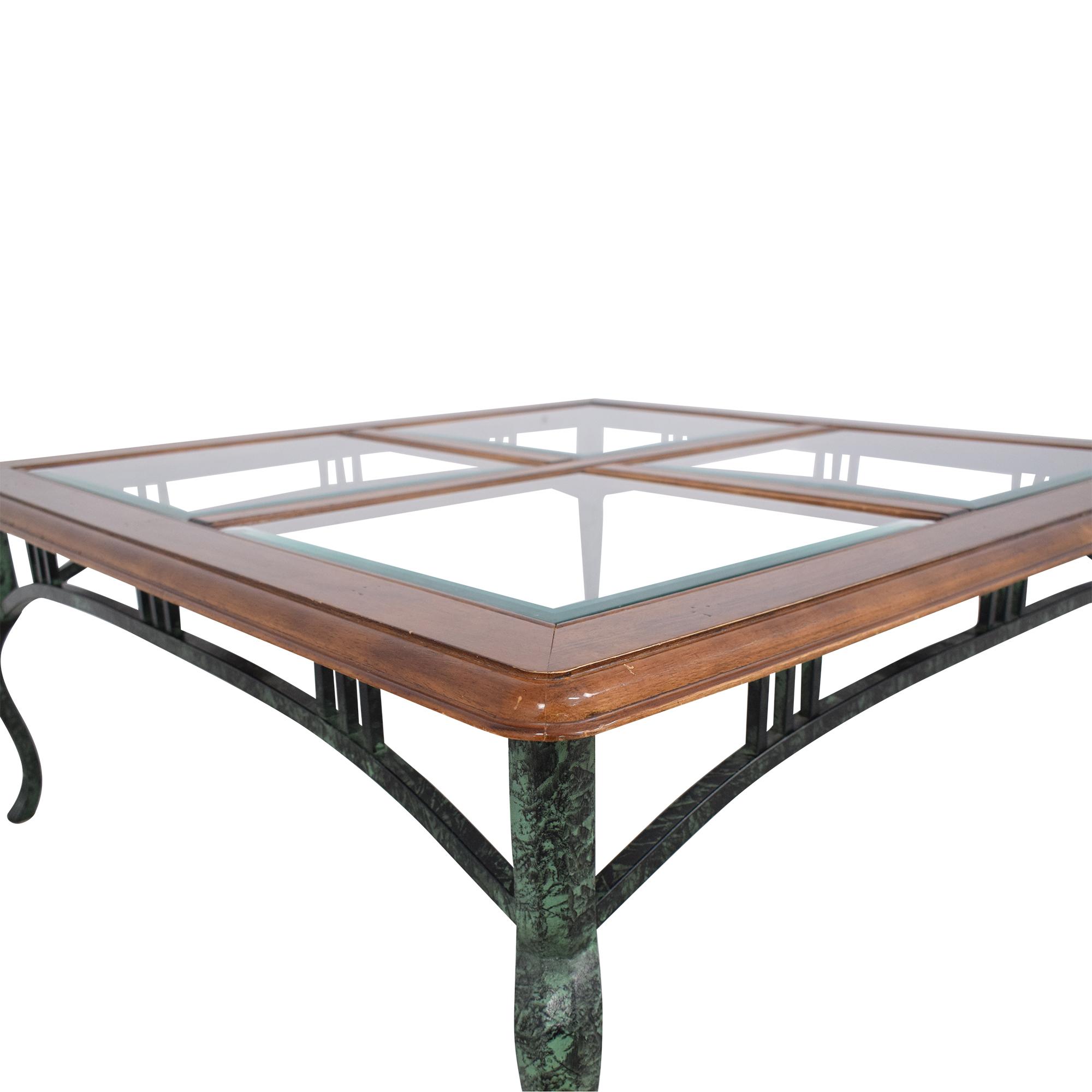 Ethan Allen Ethan Allen Glass Coffee Table ma