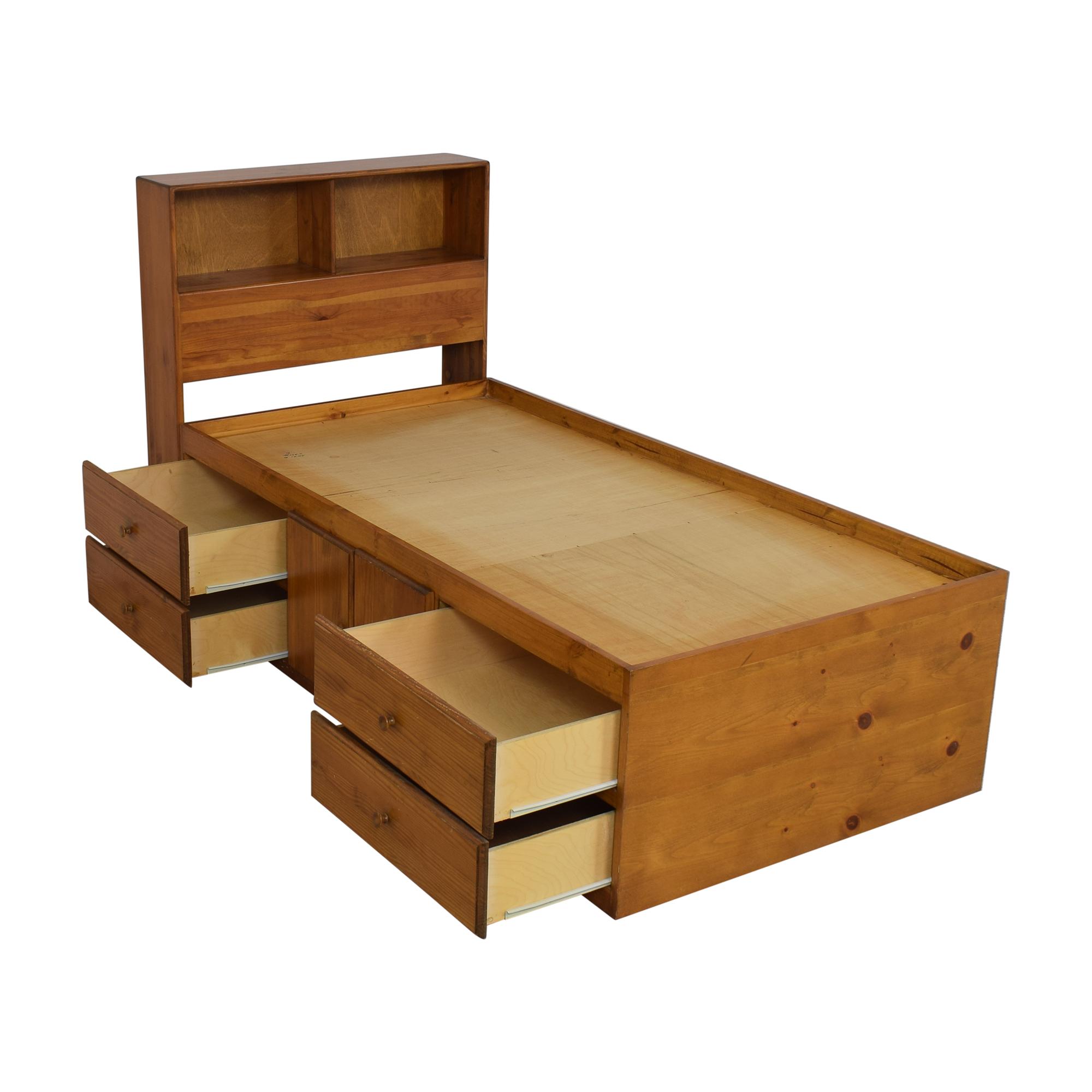 shop Gothic Cabinet Craft Captain Twin Storage Bed Gothic Cabinet Craft Bed Frames