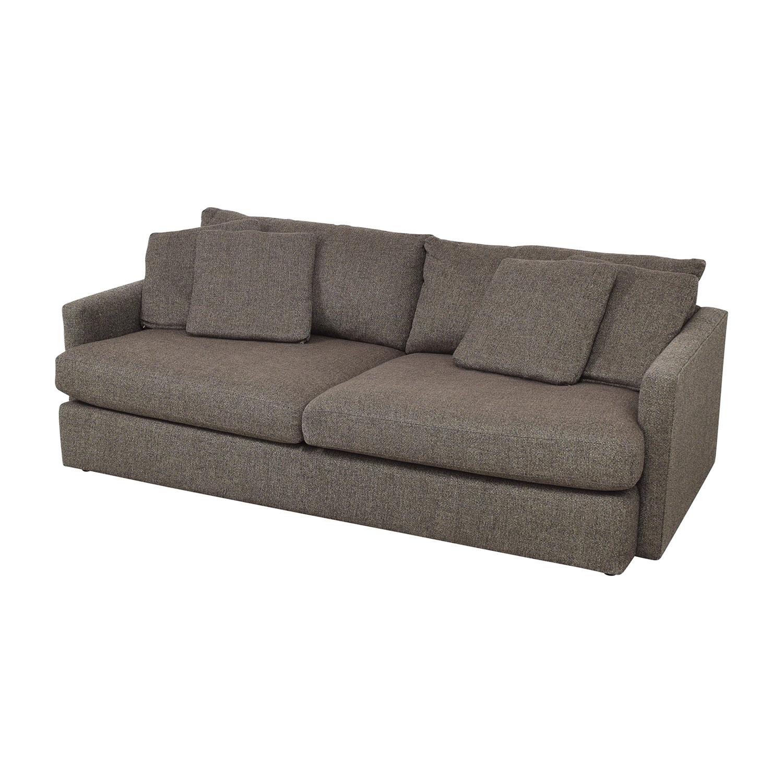 Crate & Barrel Crate & Barrel Lounge II Sofa Grey