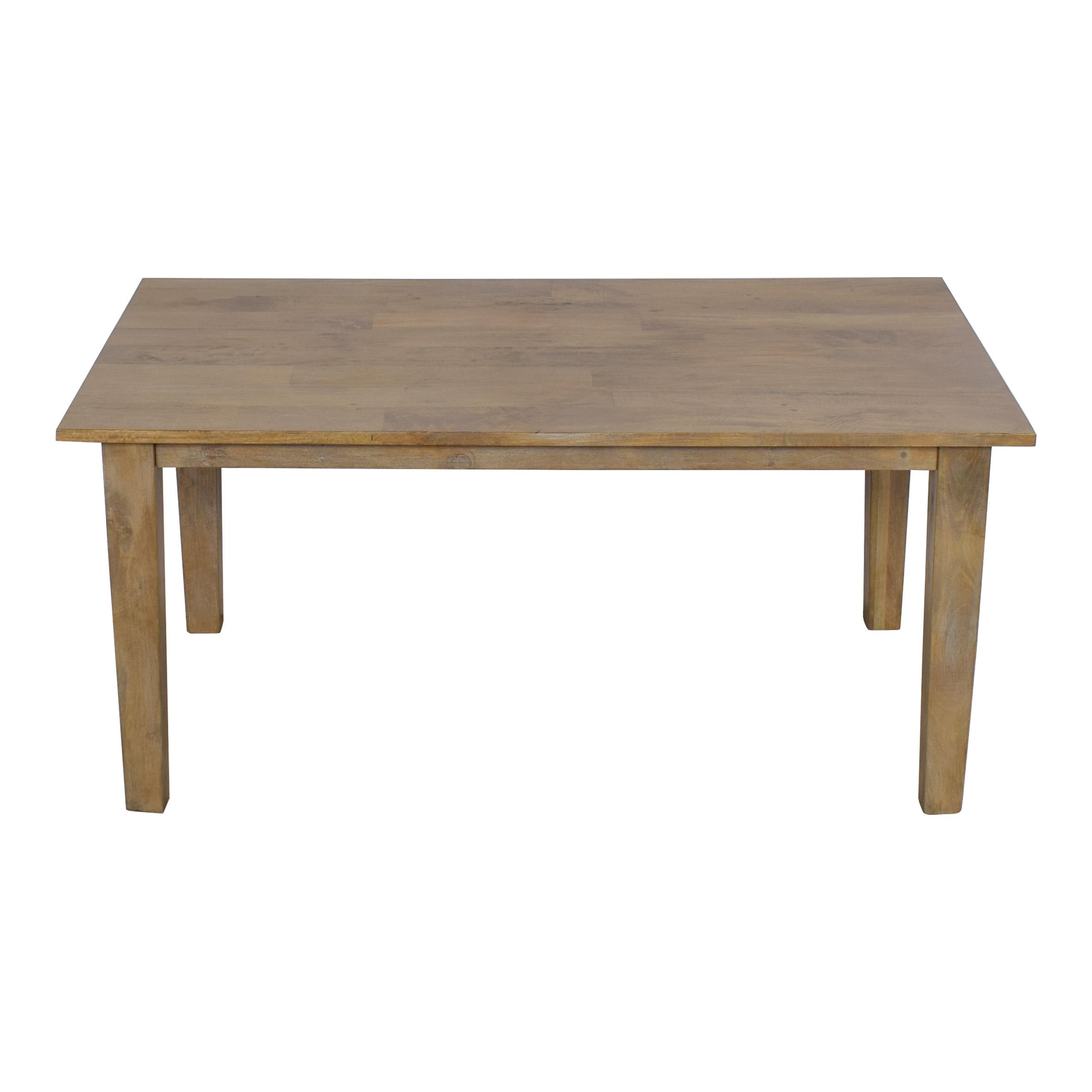 Crate & Barrel Crate & Barrel Basque Grey Wash Dining Table price