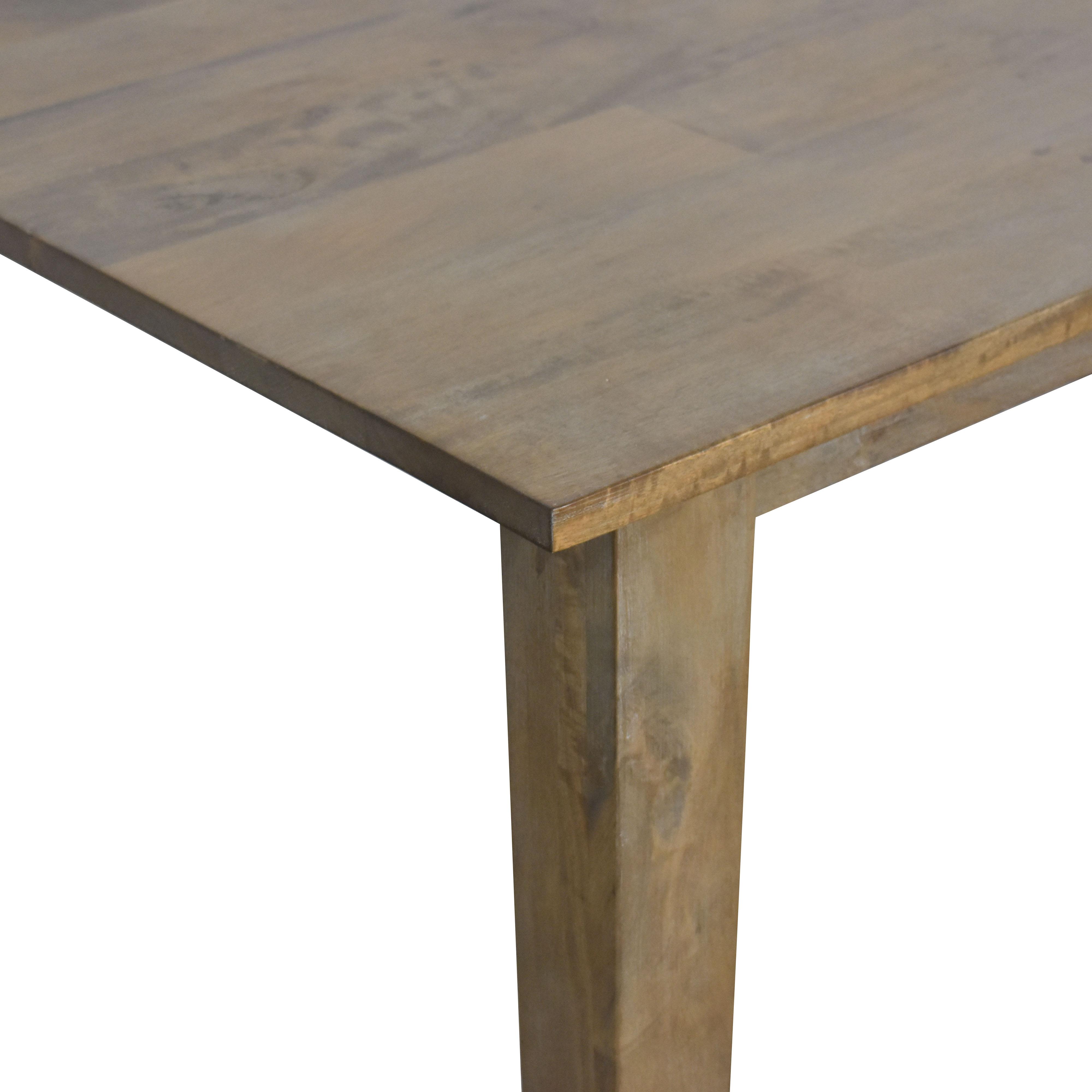 Crate & Barrel Crate & Barrel Basque Grey Wash Dining Table light brown