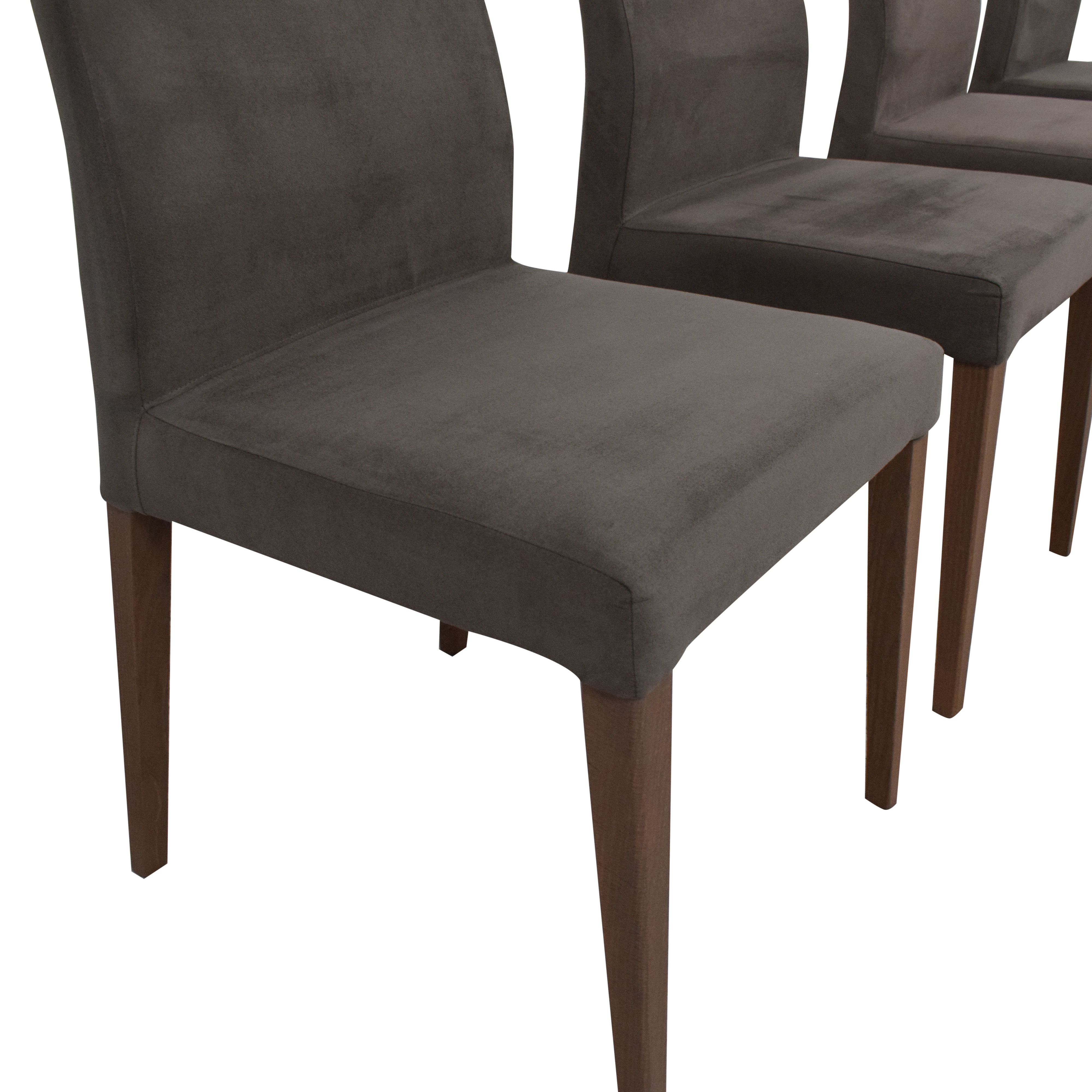 Crate & Barrel Crate & Barrel Lowe Upholstered Dining Chairs ma