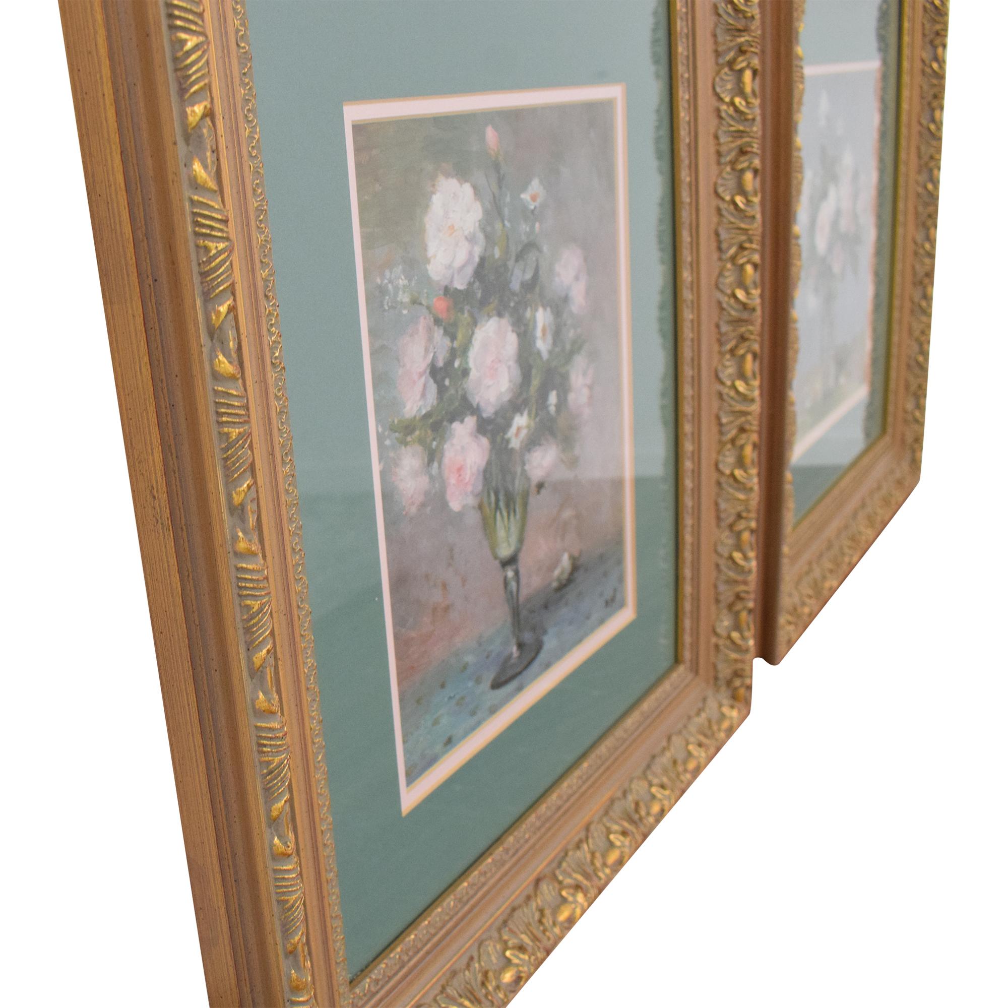 Framed Floral Wall Art second hand