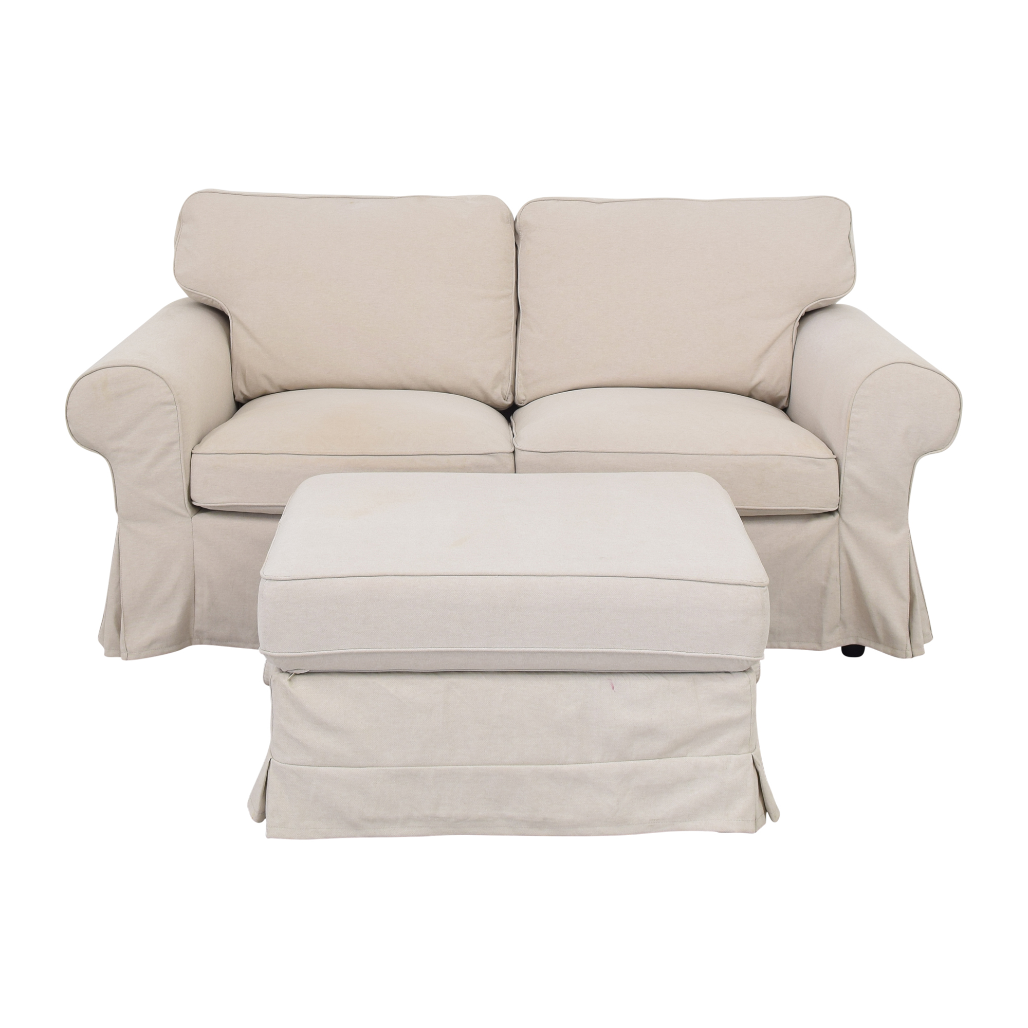 IKEA IKEA Ektorp Loveseat with Ottoman used