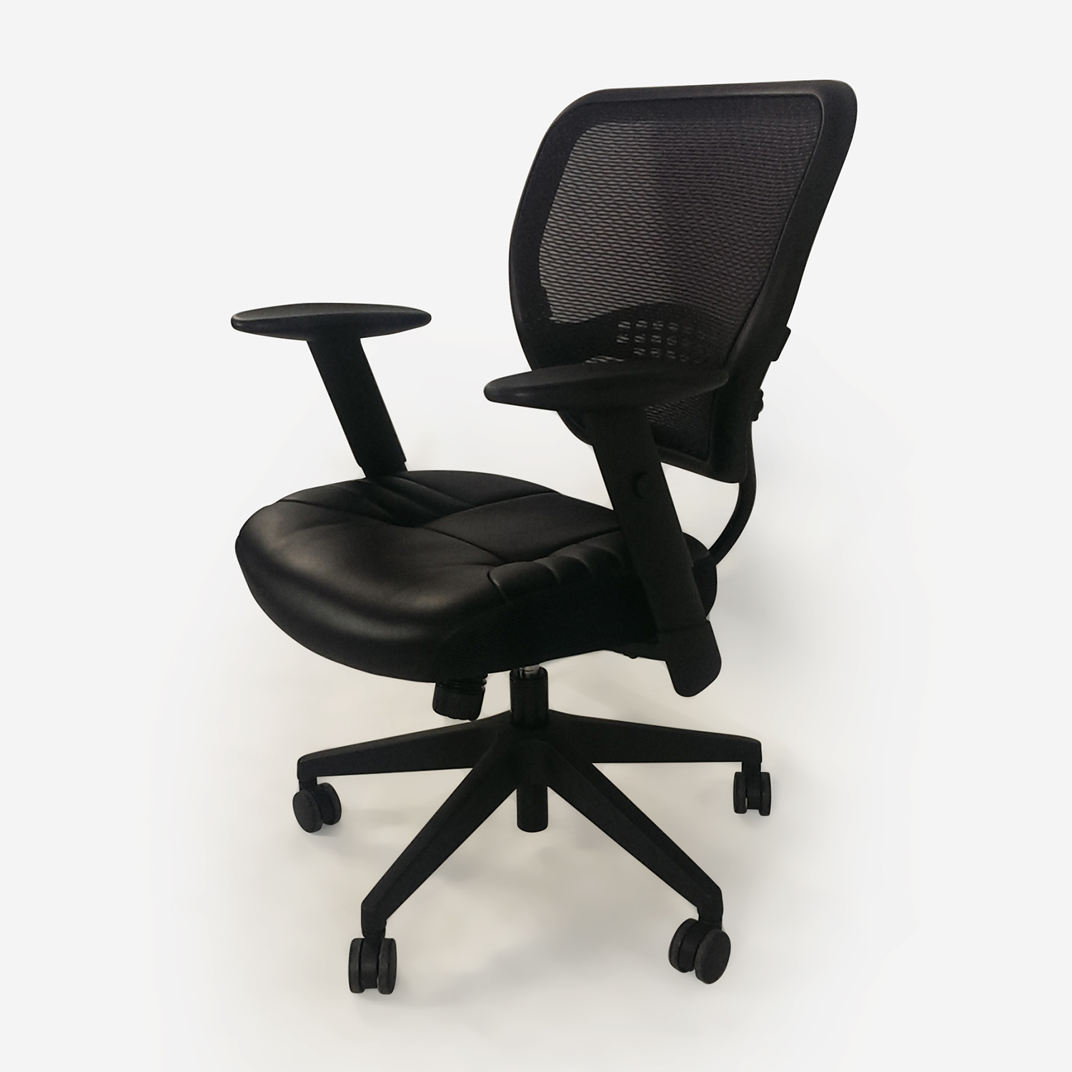 Black Leather Office Chair Chairs