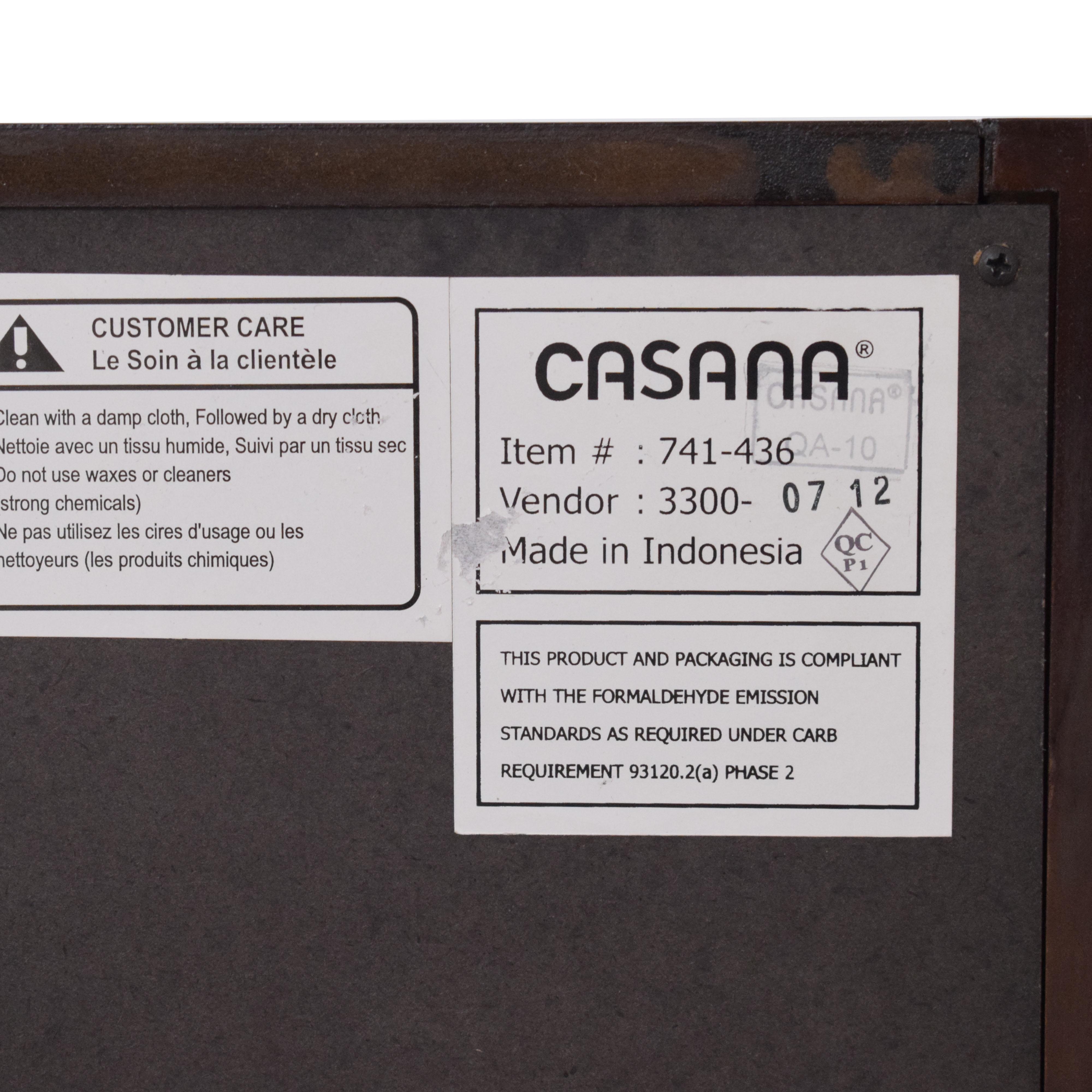Casana Furniture Casana Tahoe Chest Noir Six Drawer on sale