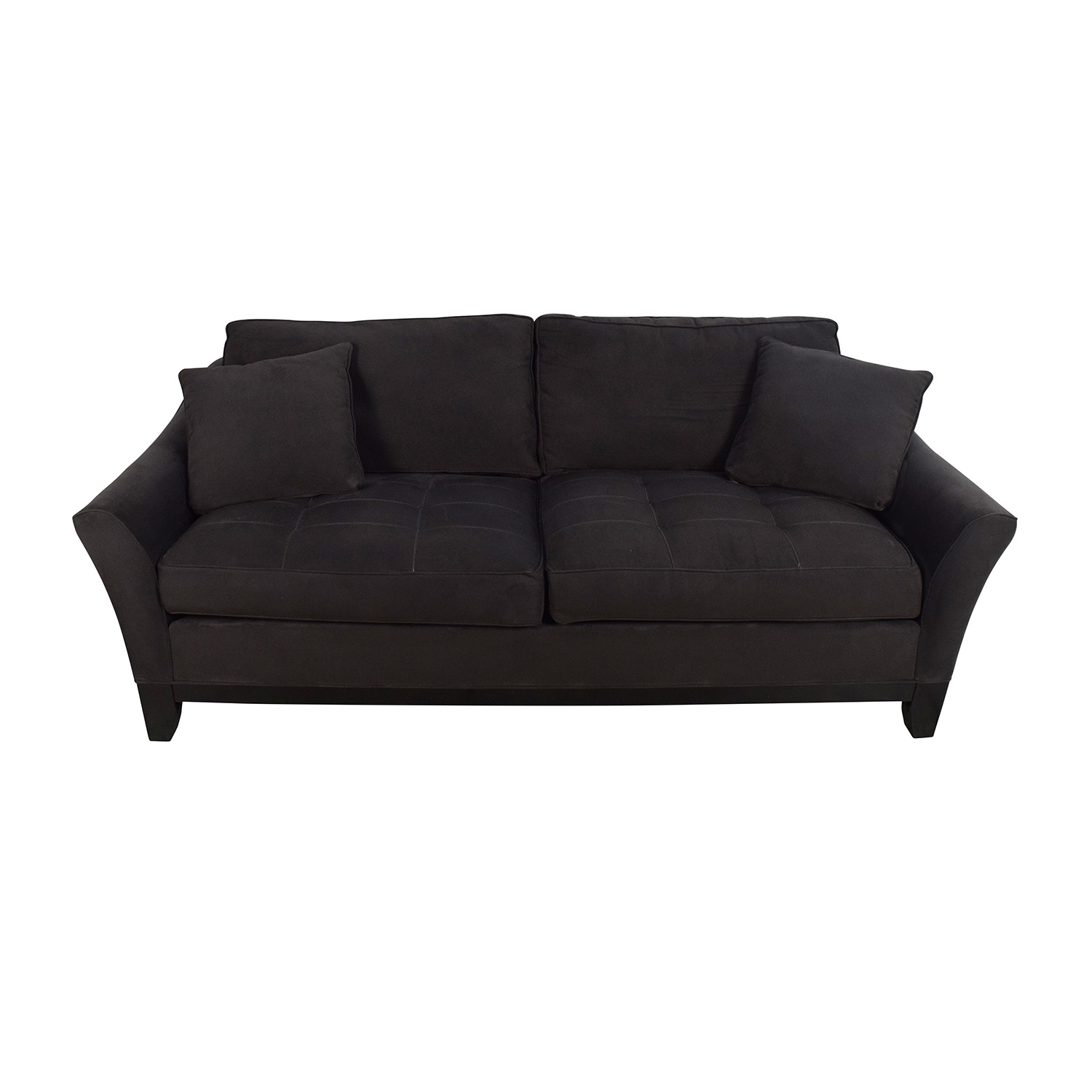Raymour and Flanigan Raymour & Flanigan Gray Microfiber Sofa Gray