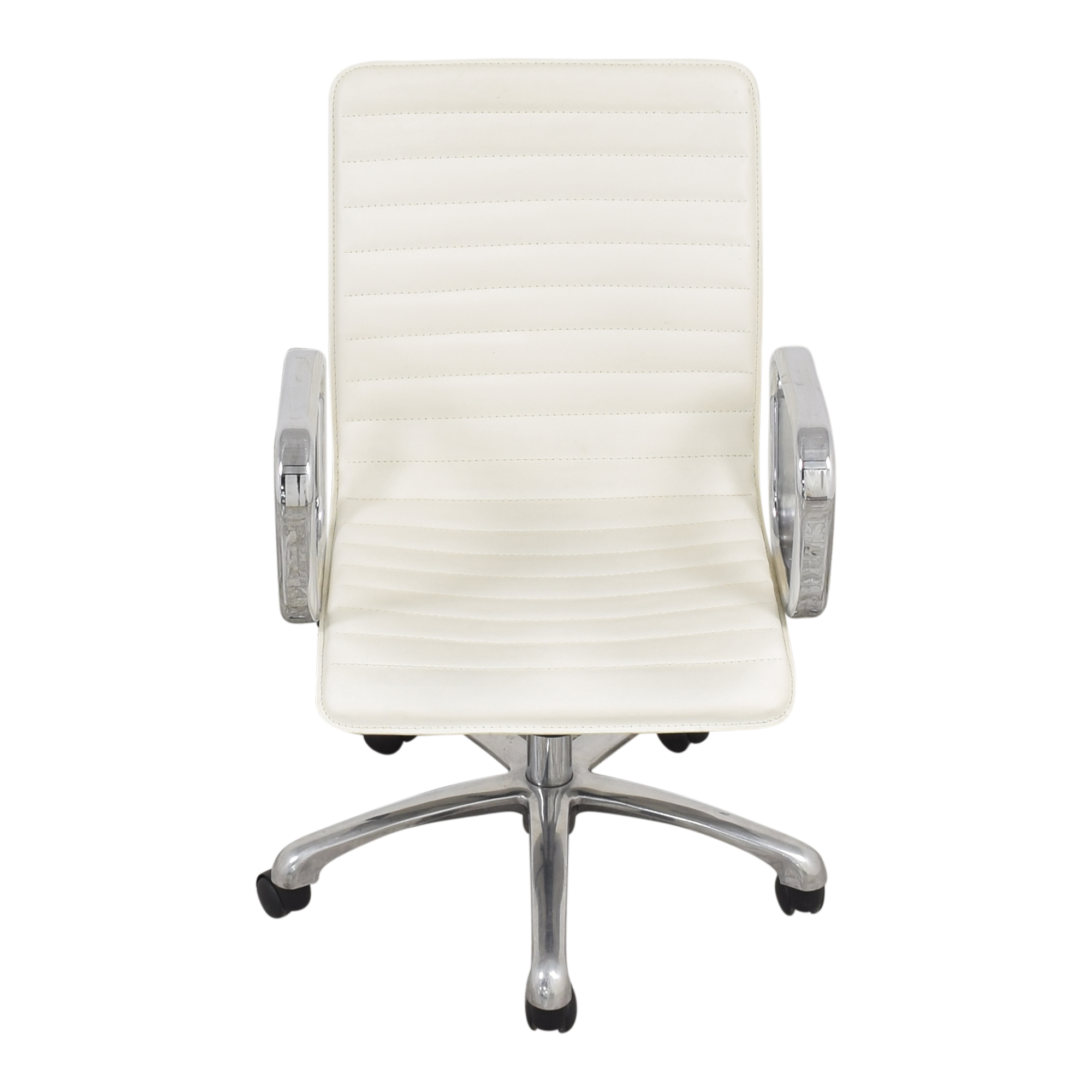 Crate & Barrel Crate & Barrel Ripple Ivory Office Chair with Chrome Base nyc