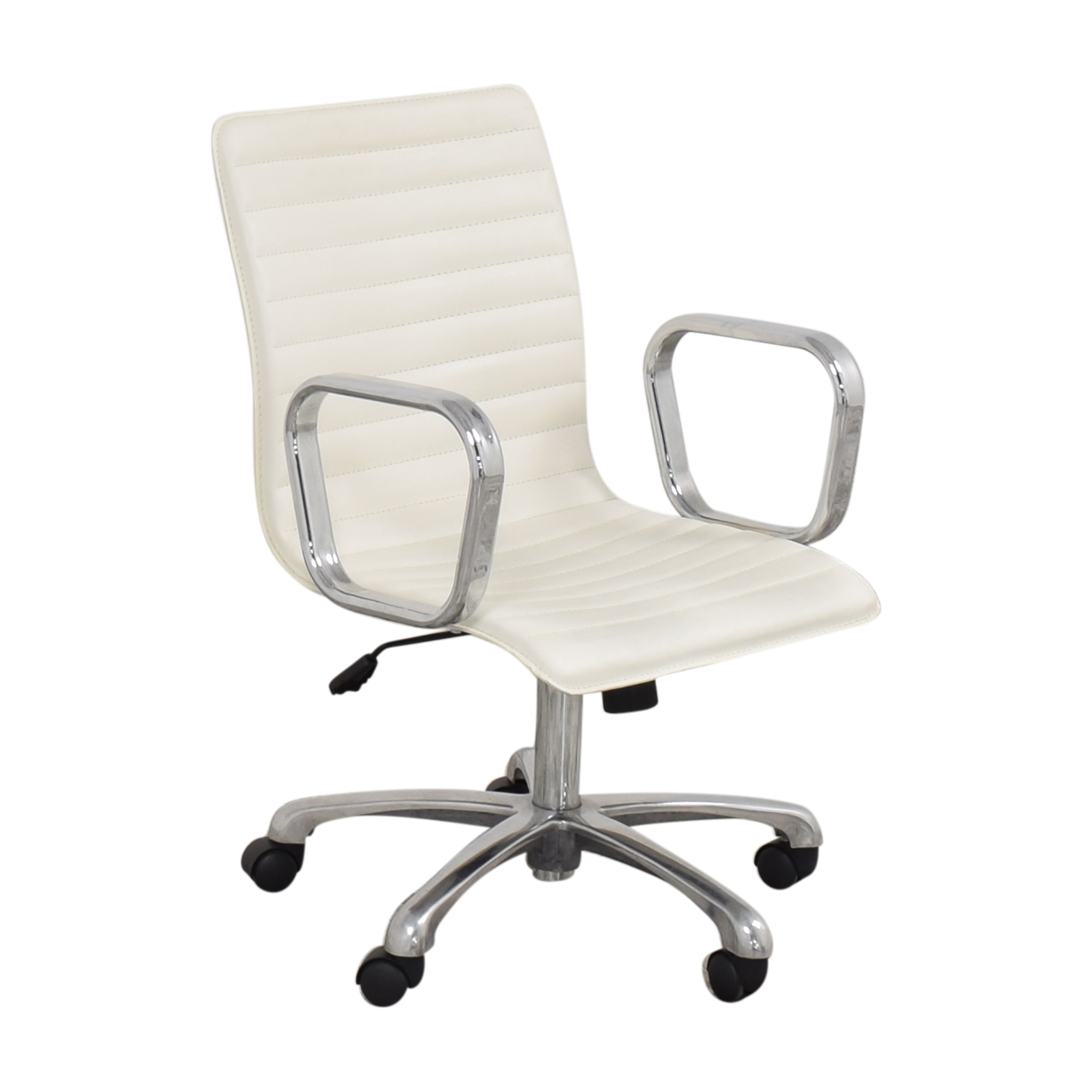 Crate & Barrel Crate & Barrel Ripple Ivory Office Chair with Chrome Base Chairs