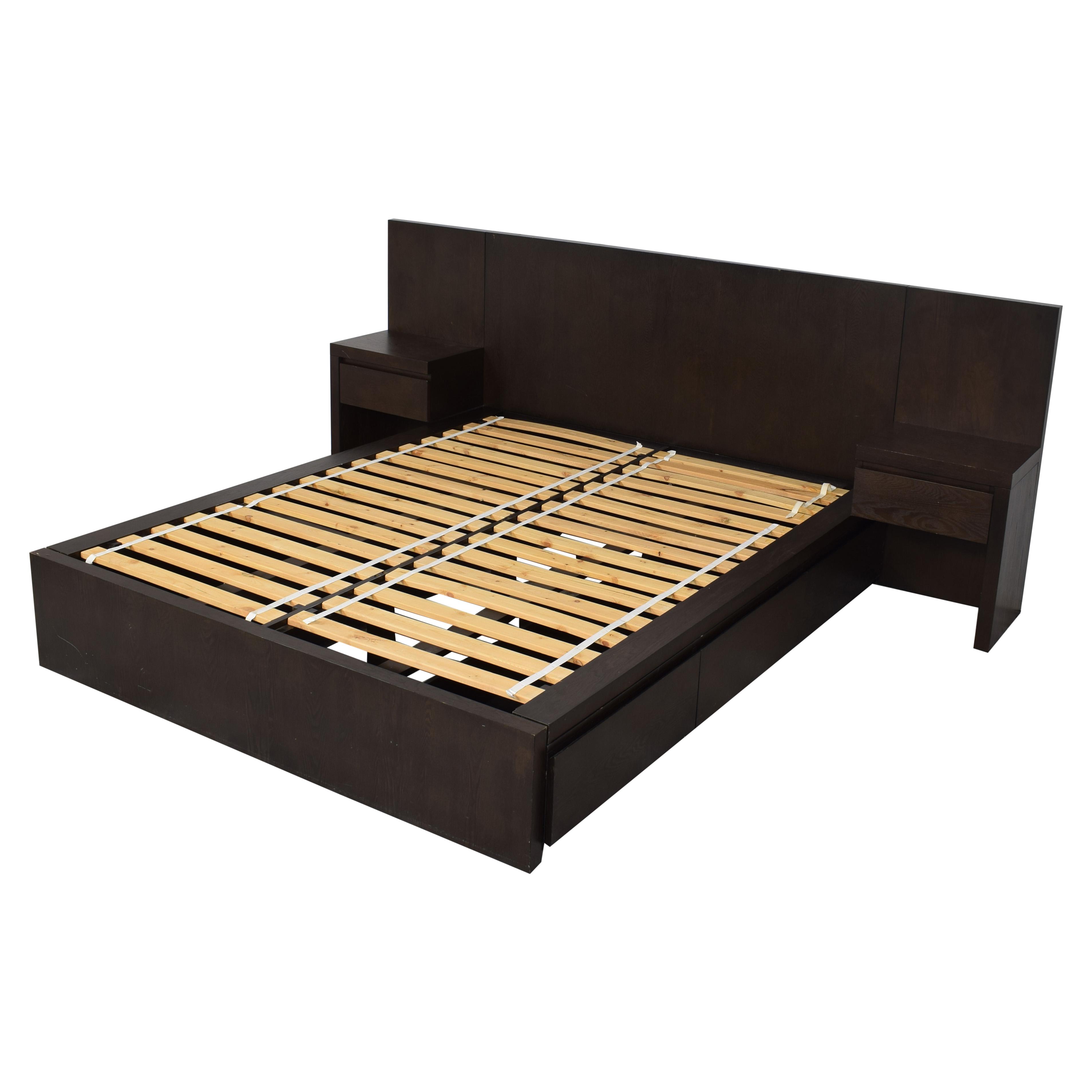 buy West Elm Queen Storage Bed with Nightstands West Elm