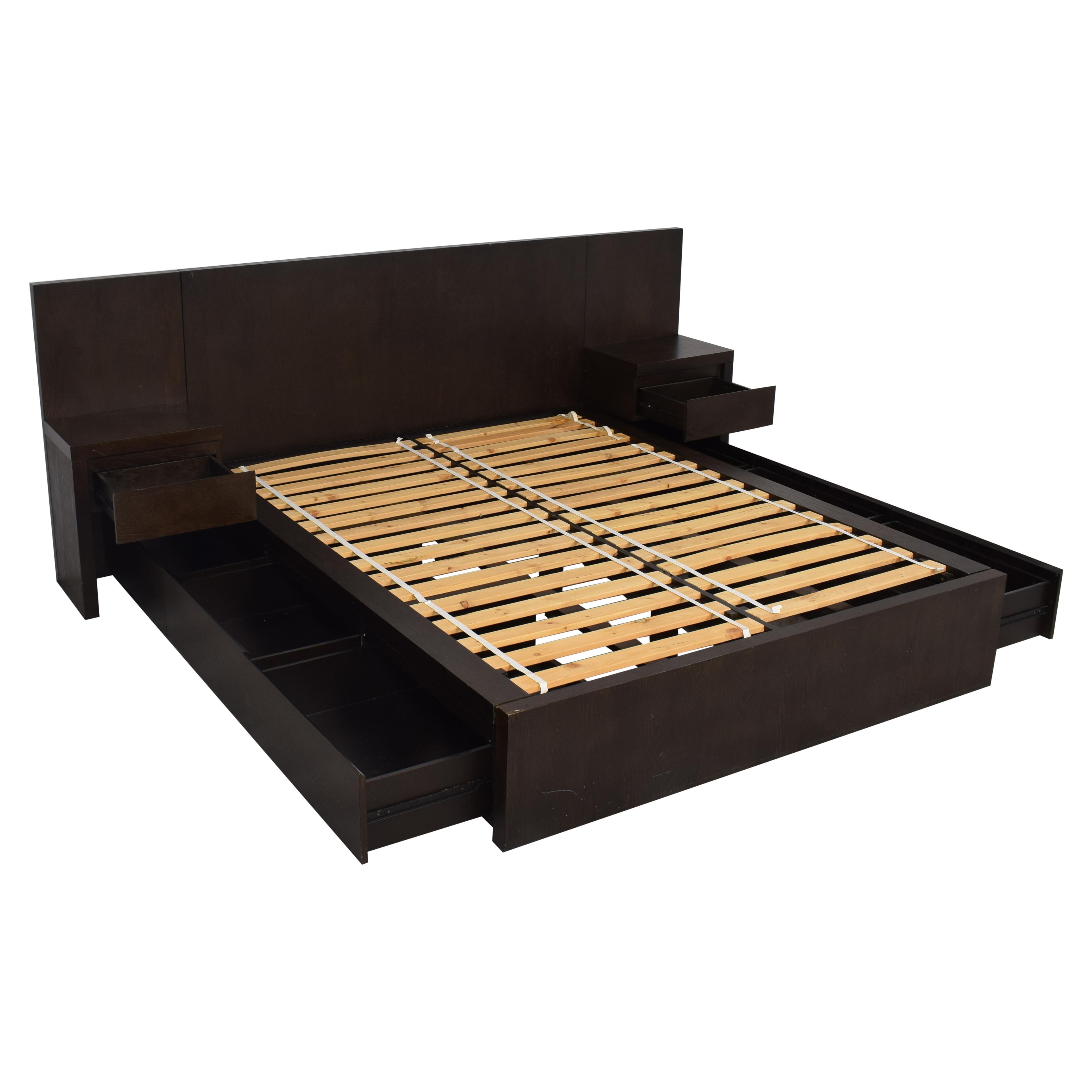 buy West Elm Queen Storage Bed with Nightstands West Elm Beds