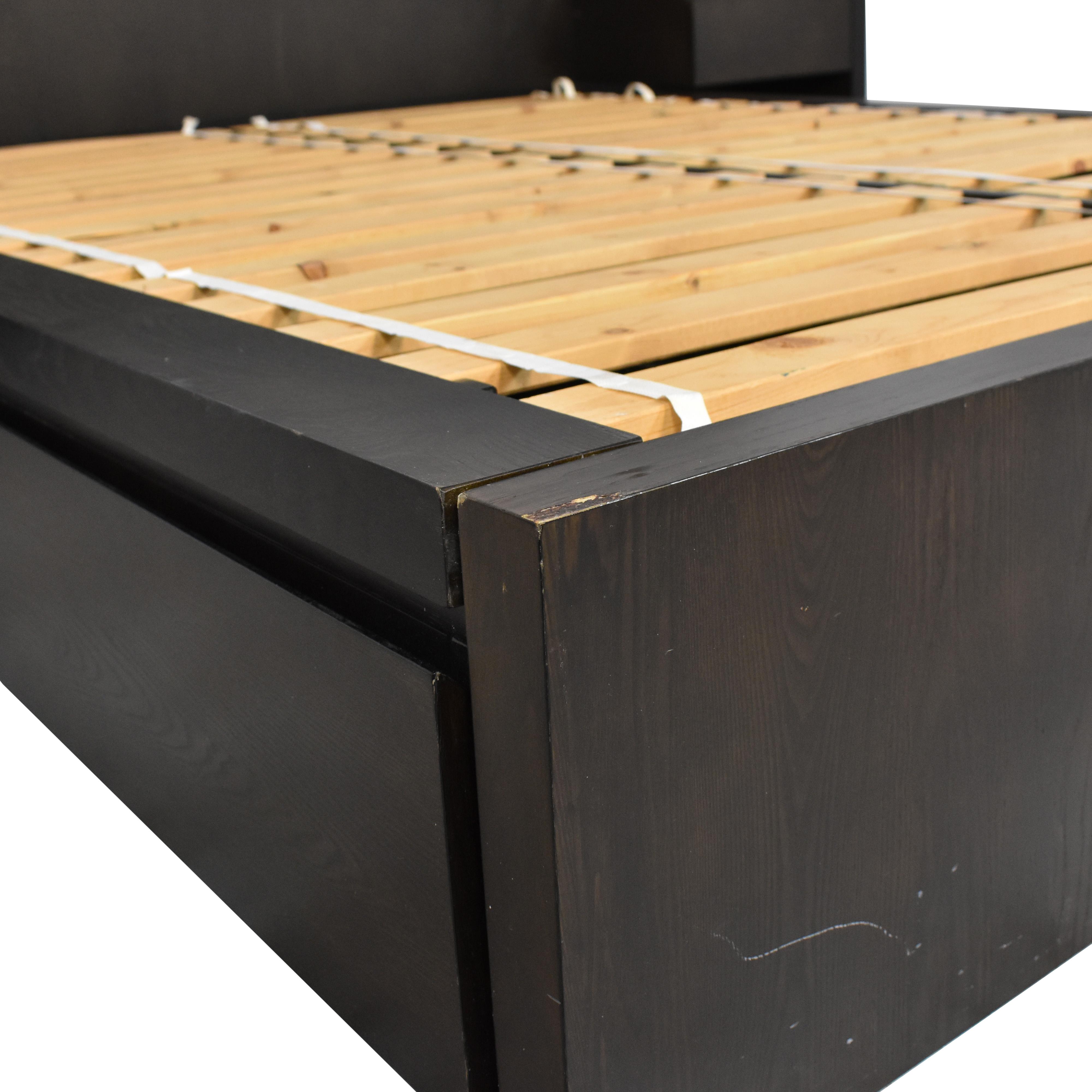 West Elm Queen Storage Bed with Nightstands sale