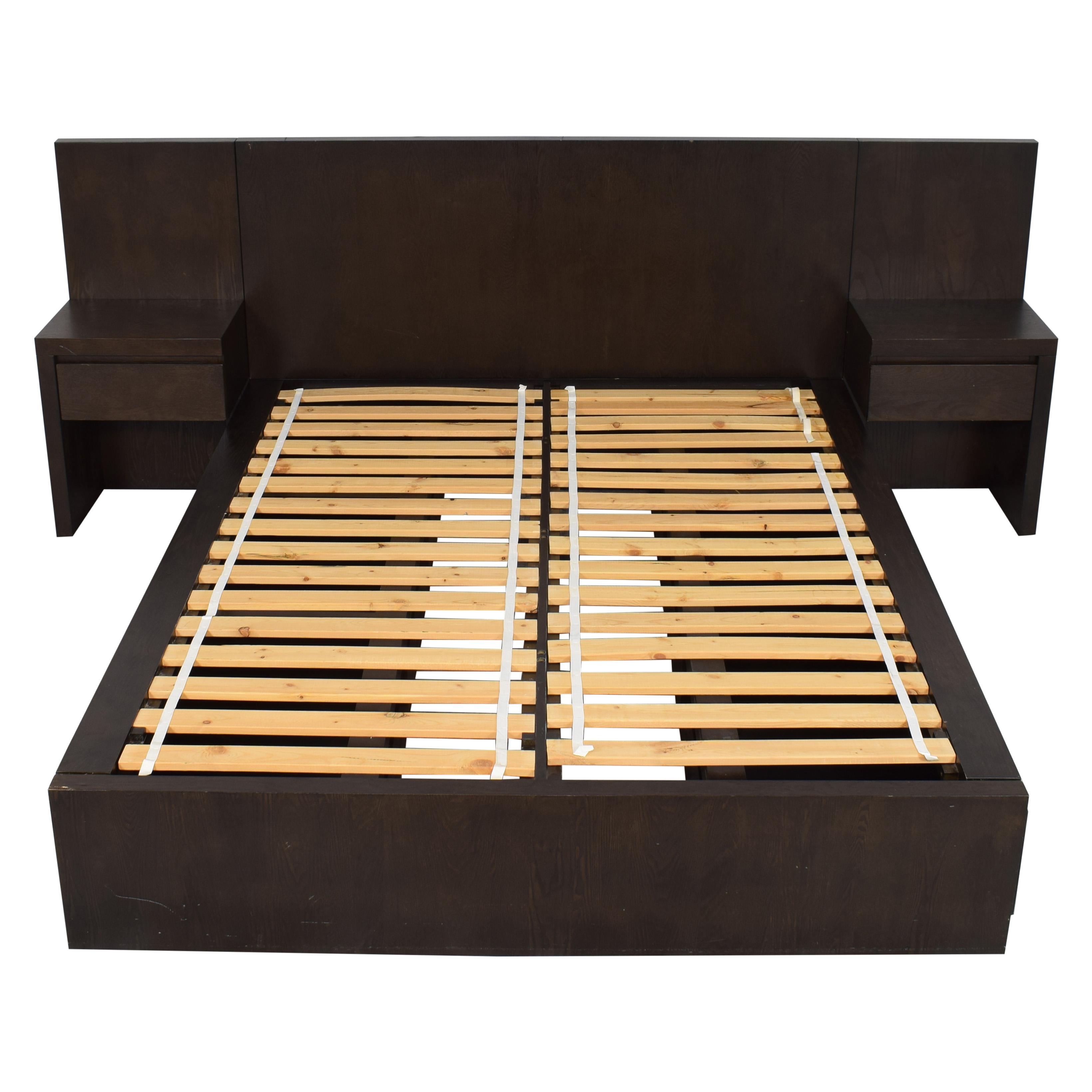 West Elm West Elm Queen Storage Bed with Nightstands dimensions