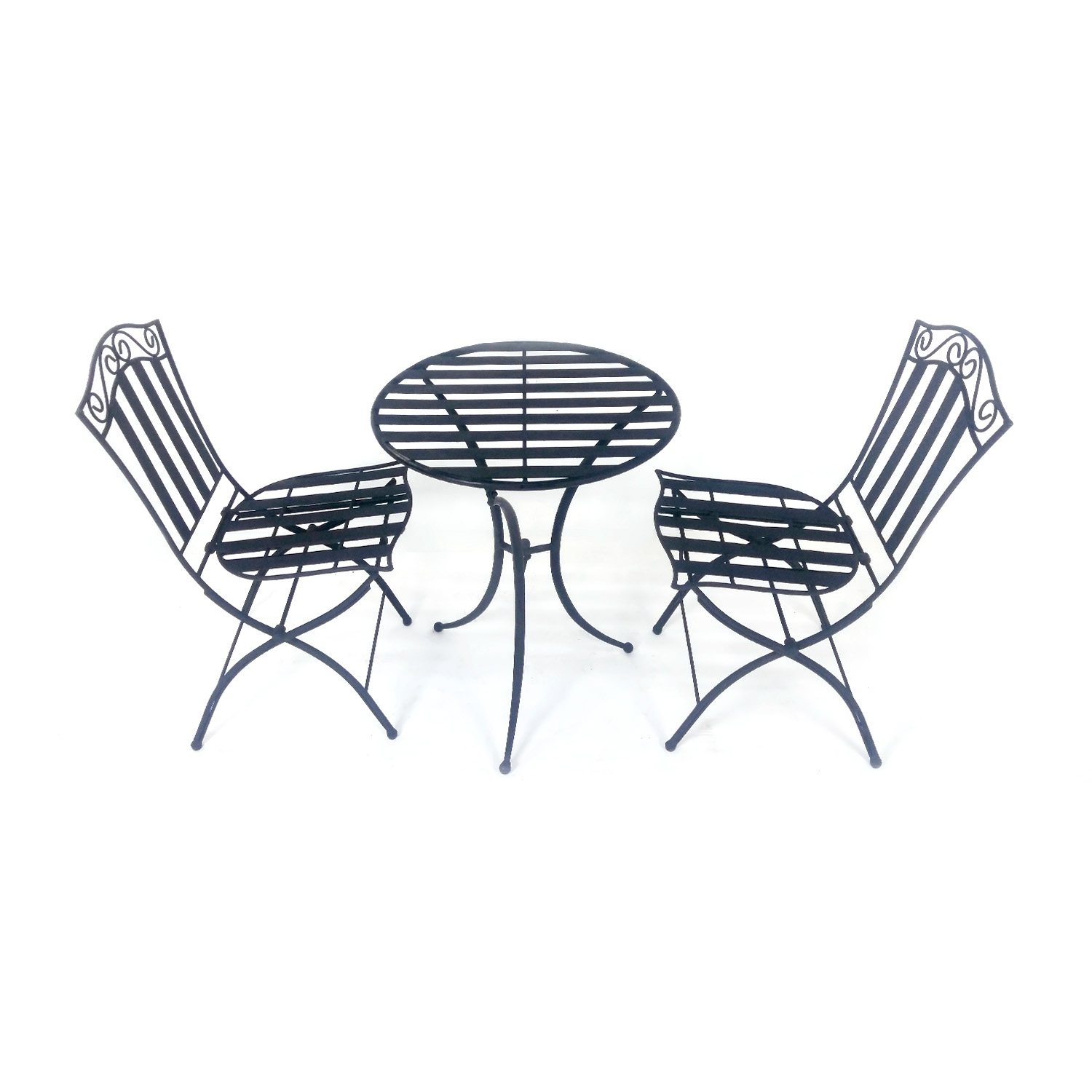 Bistro dining set Black