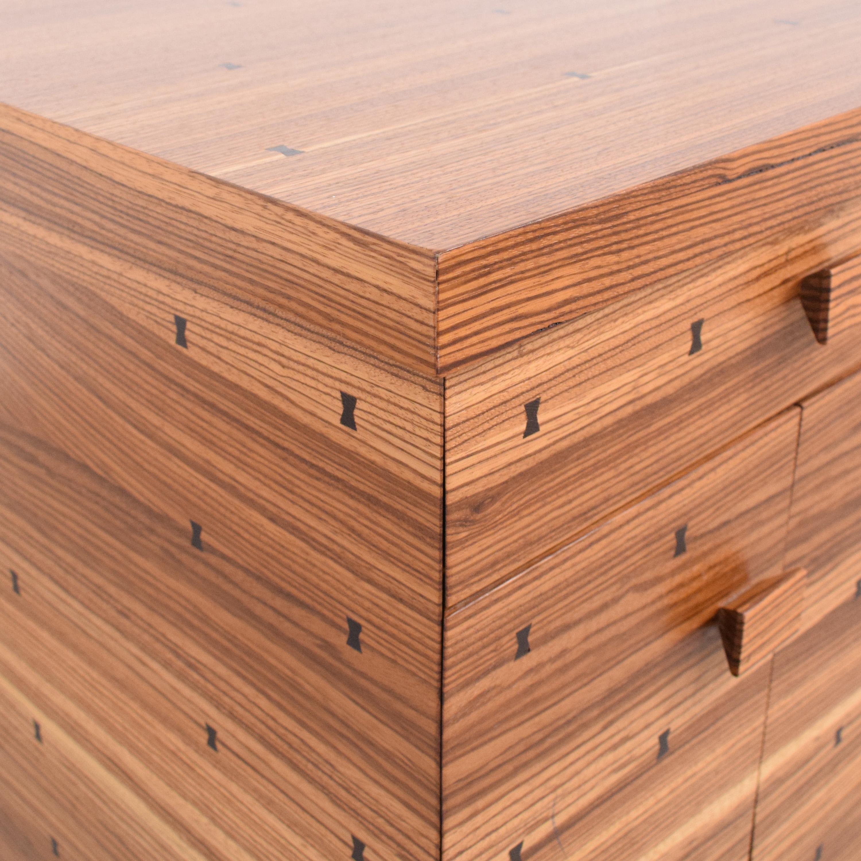 shop  Storage Nightstand with Bowtie Inlay Design online