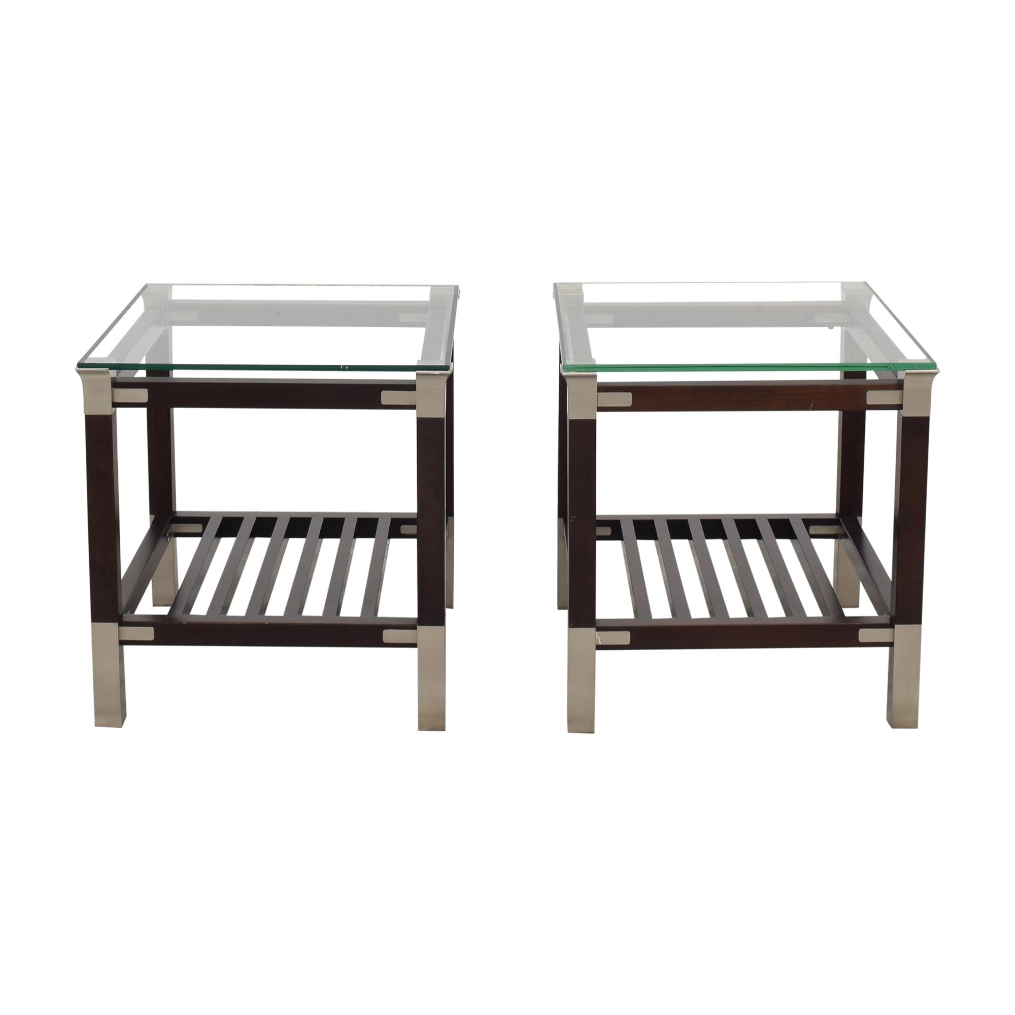 Klaussner Slat Bottom End Tables / Tables