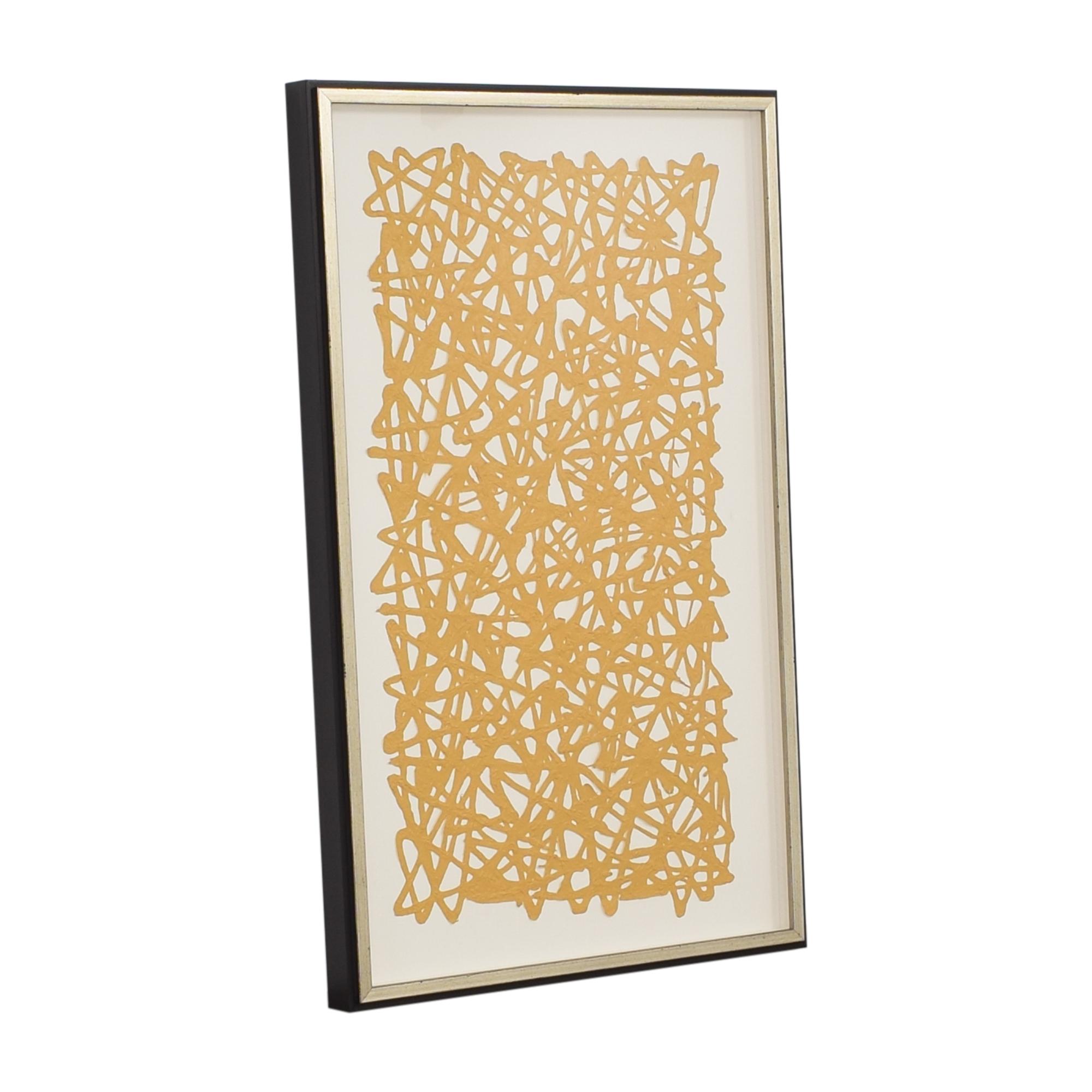 Ethan Allen Ethan Allen Mustard Paper Art ct