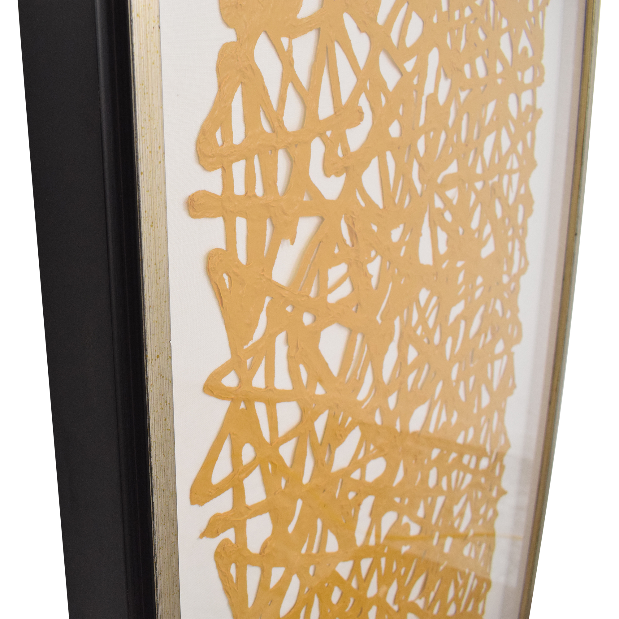 buy Ethan Allen Mustard Paper Art Ethan Allen