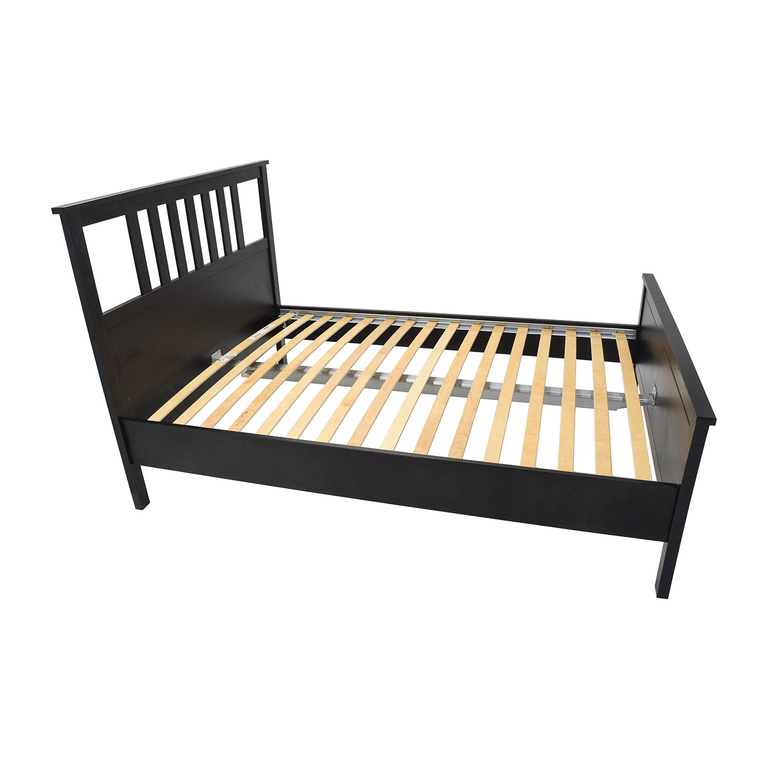 Bed Frame Full King Faux Leather Bed Floating Bed Frame