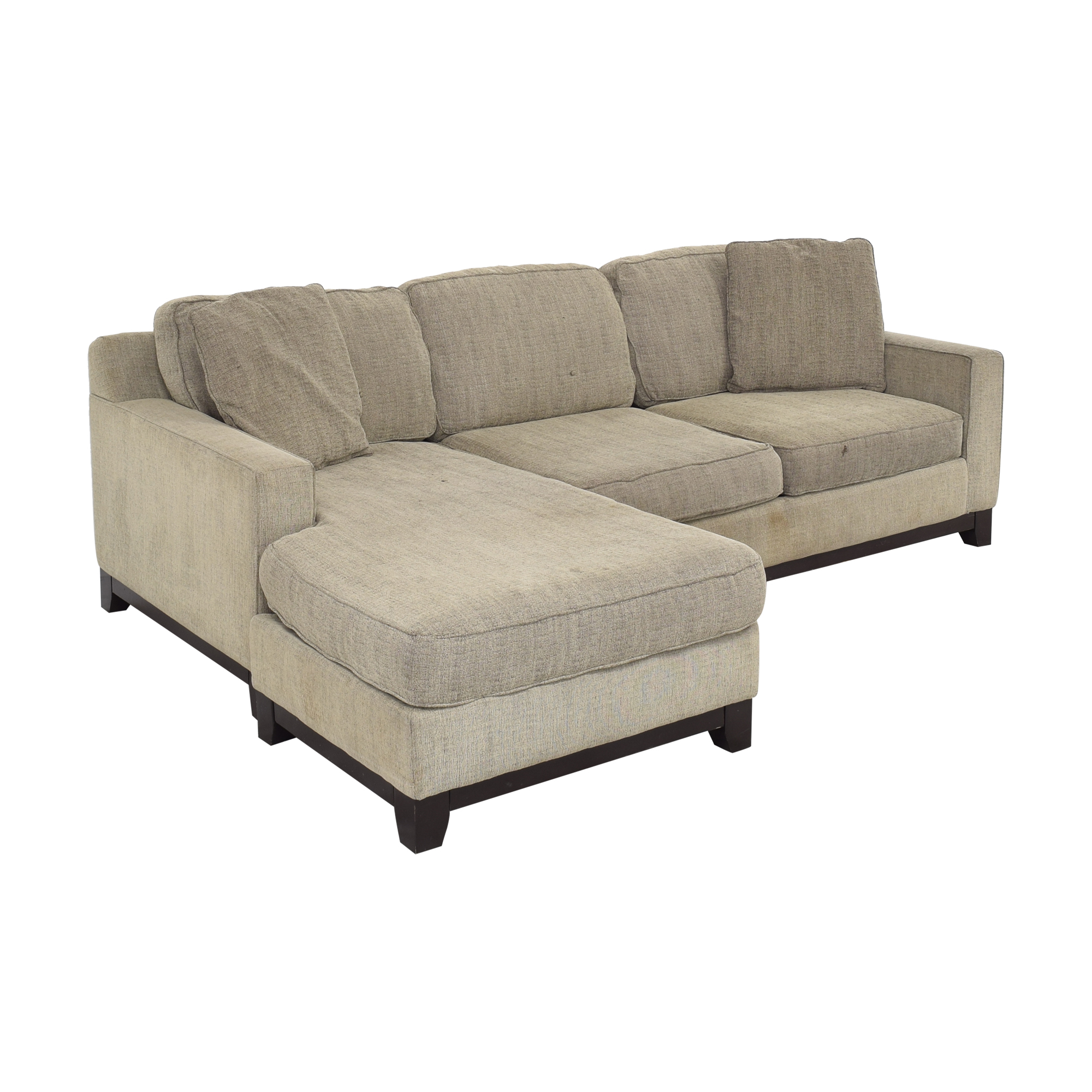 Macy's Jonathan Louis Chaise Sectional Sofa ct