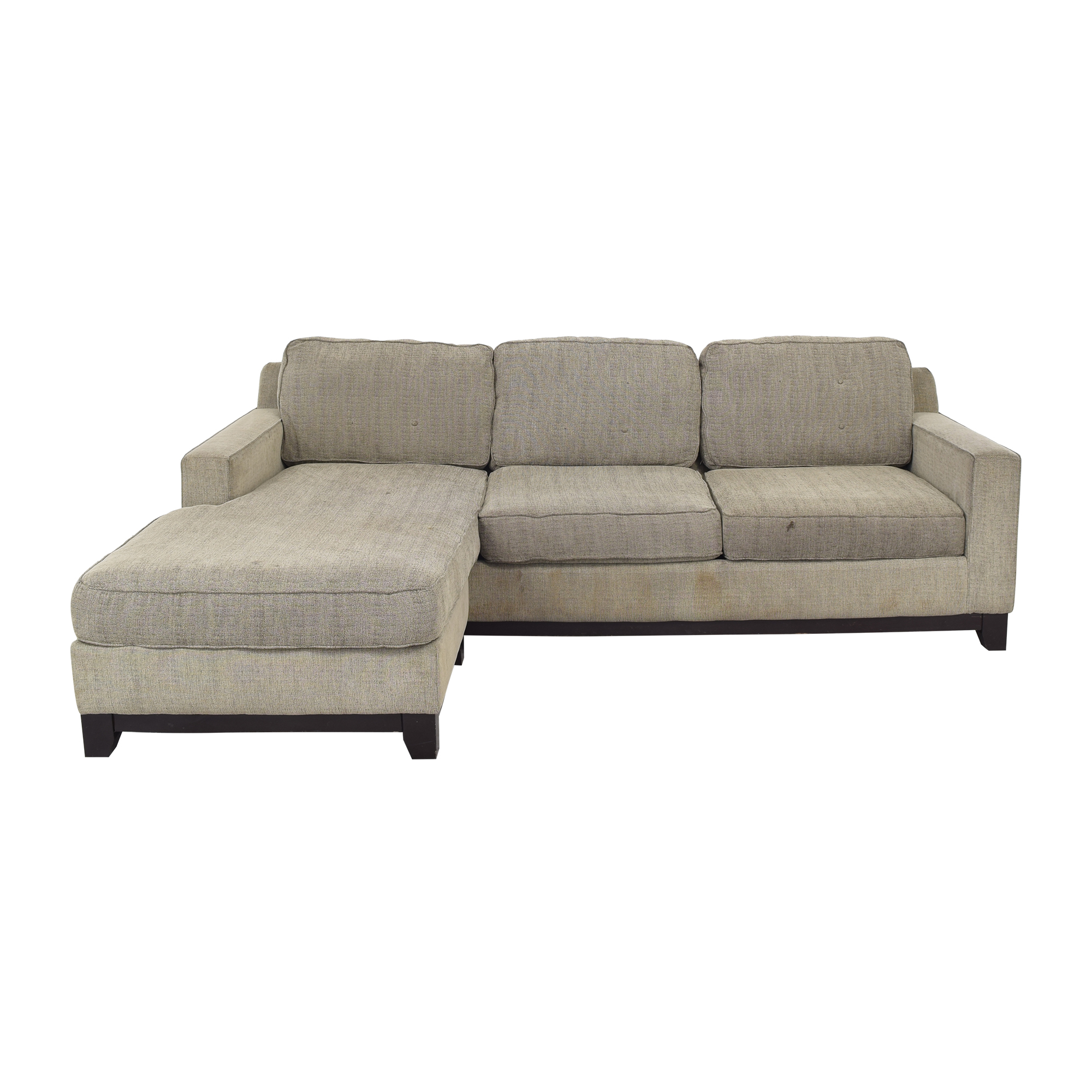 Macy's Jonathan Louis Chaise Sectional Sofa discount