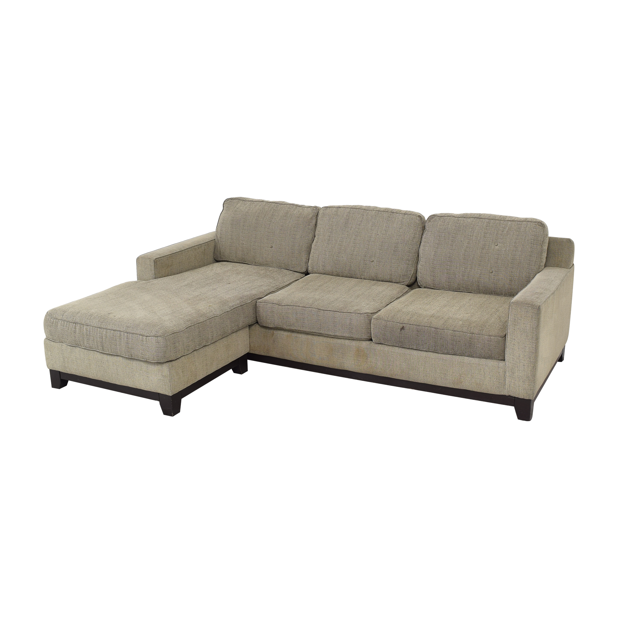 Macy's Jonathan Louis Chaise Sectional Sofa second hand