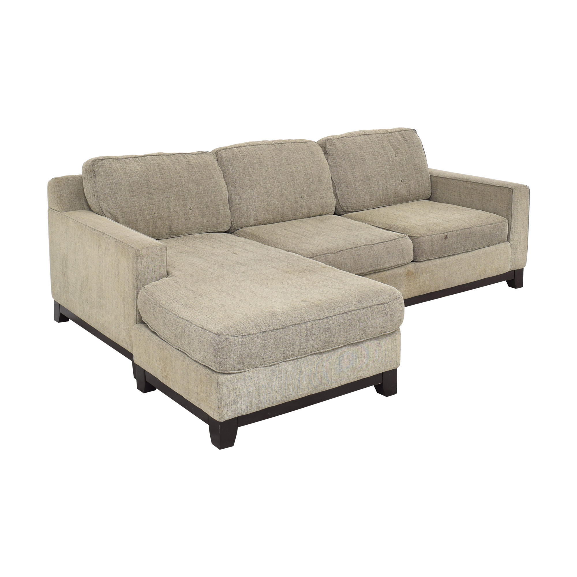 Macy's Jonathan Louis Chaise Sectional Sofa used