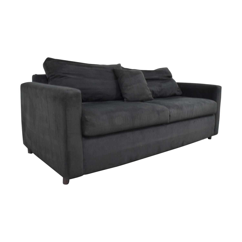 78% OFF - Bob\'s Discount Furniture Bob\'s Furniture Black Micro Suede ...
