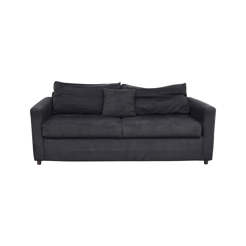 78% OFF - Bob\'s Discount Furniture Bob\'s Furniture Black Micro Suede Couch  / Sofas