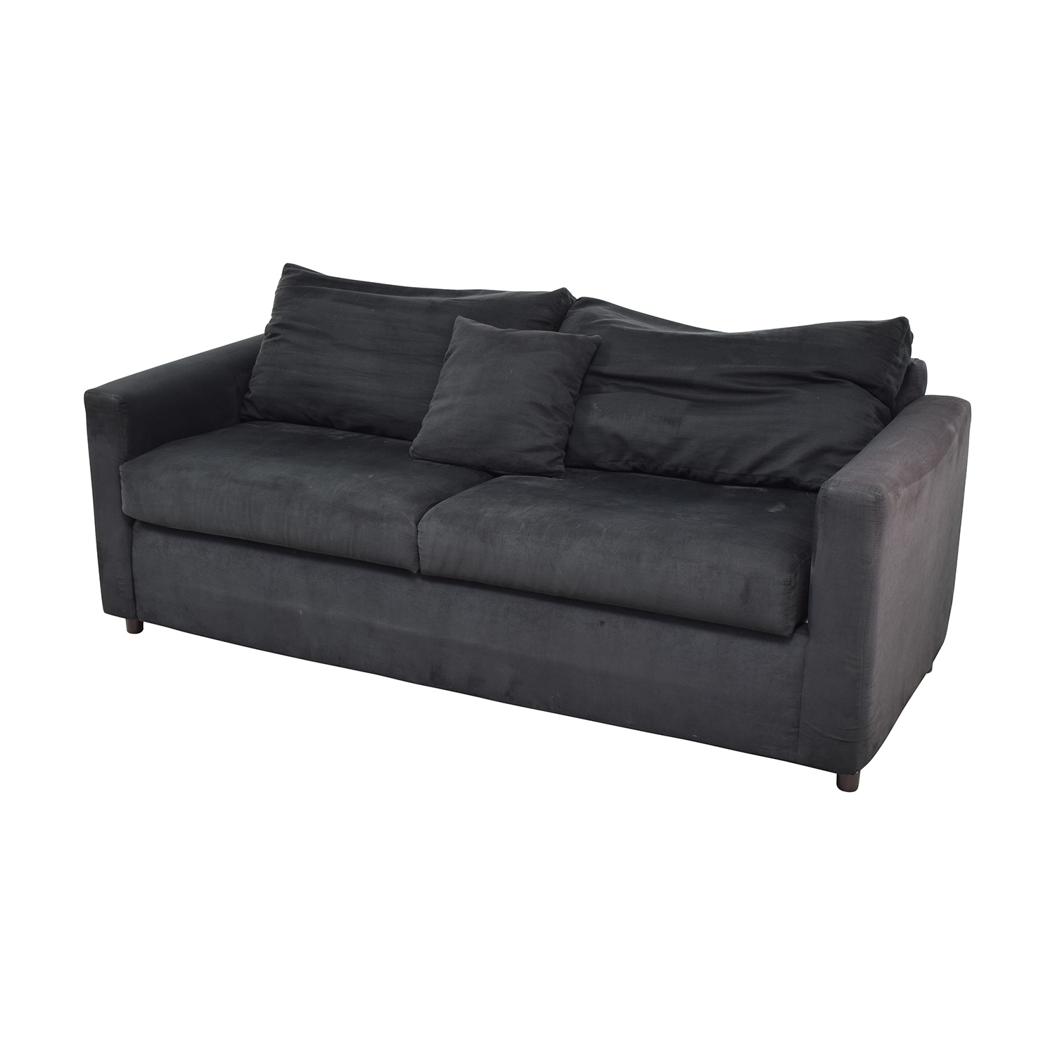 Bobs Furniture Black Micro Suede Couch Price