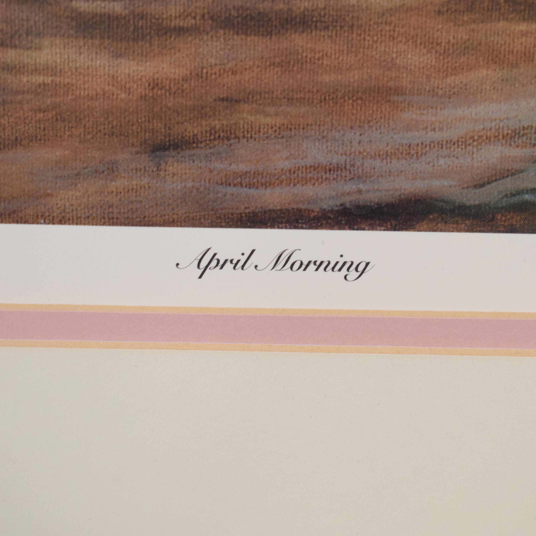 April Morning Framed Wall Art / Wall Art