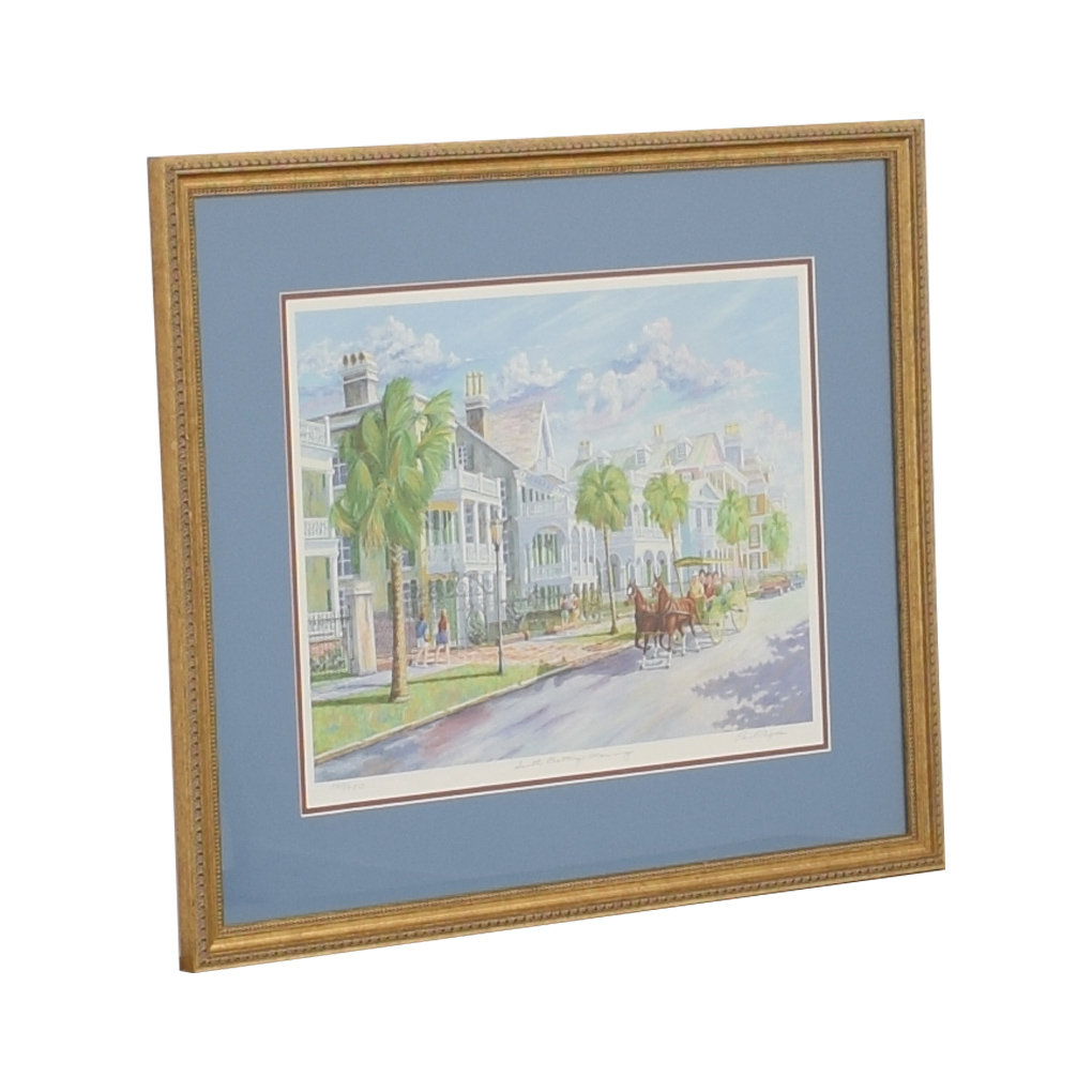 South Battery Morning Framed Wall Art pa