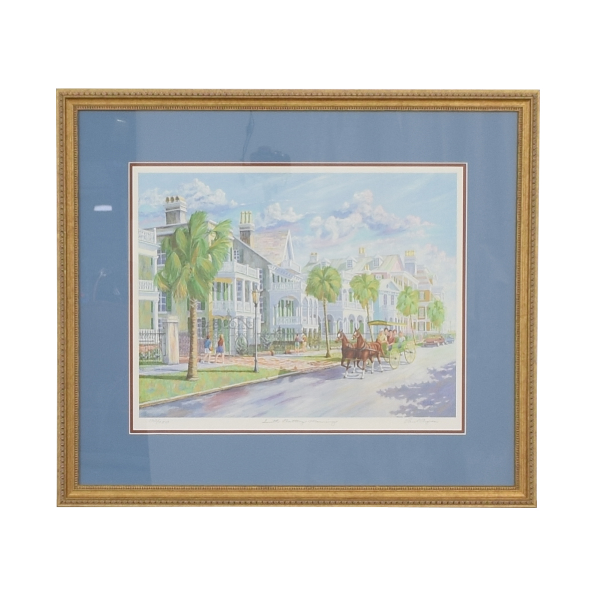 South Battery Morning Framed Wall Art Multi-colored